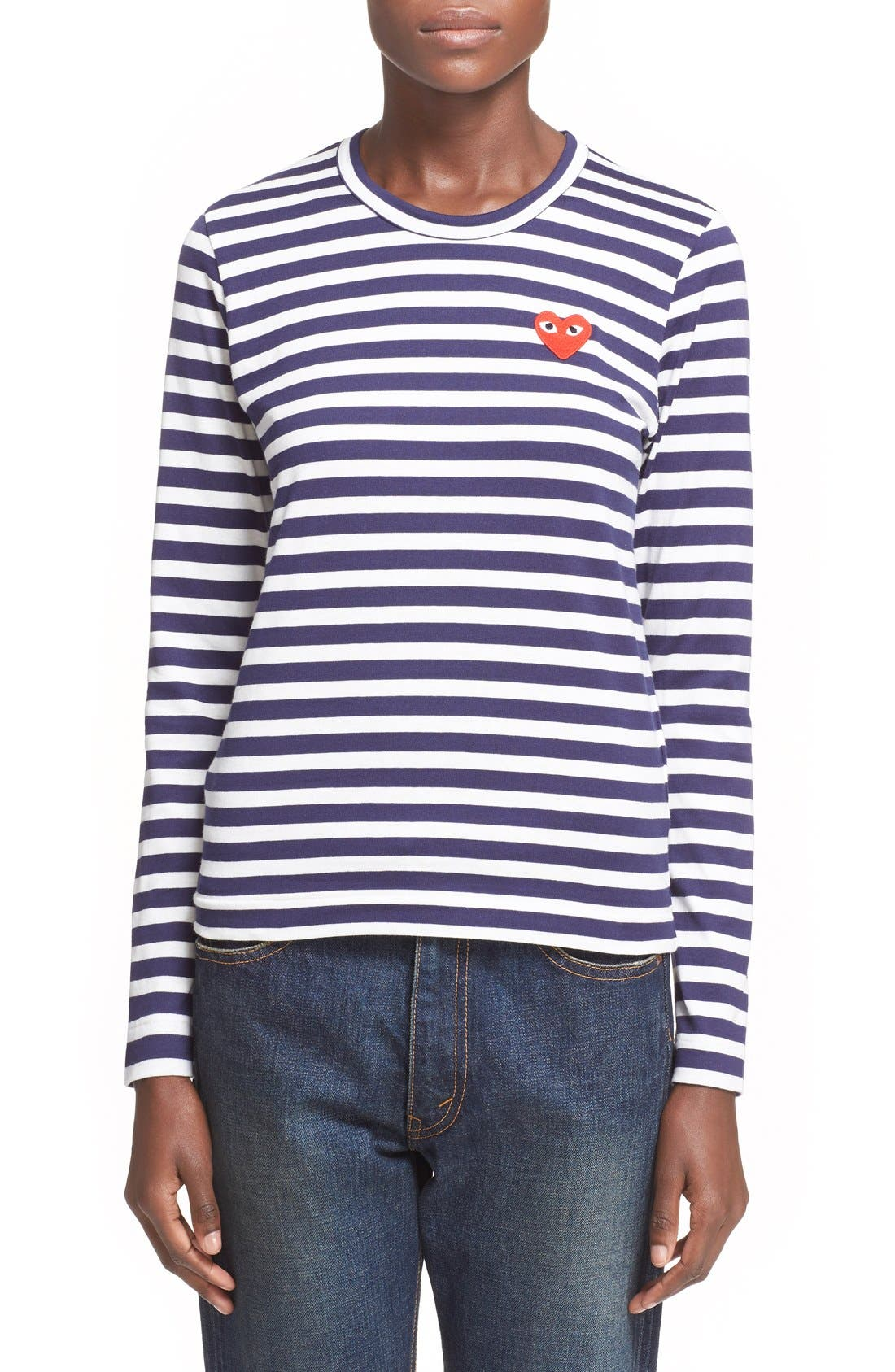 Alternate Image 1 Selected - Comme des Garçons PLAY Stripe Tee