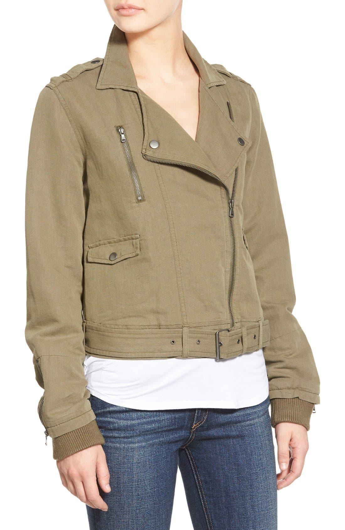 Alternate Image 5  - Paige Denim 'Marjorie' Twill Moto Jacket
