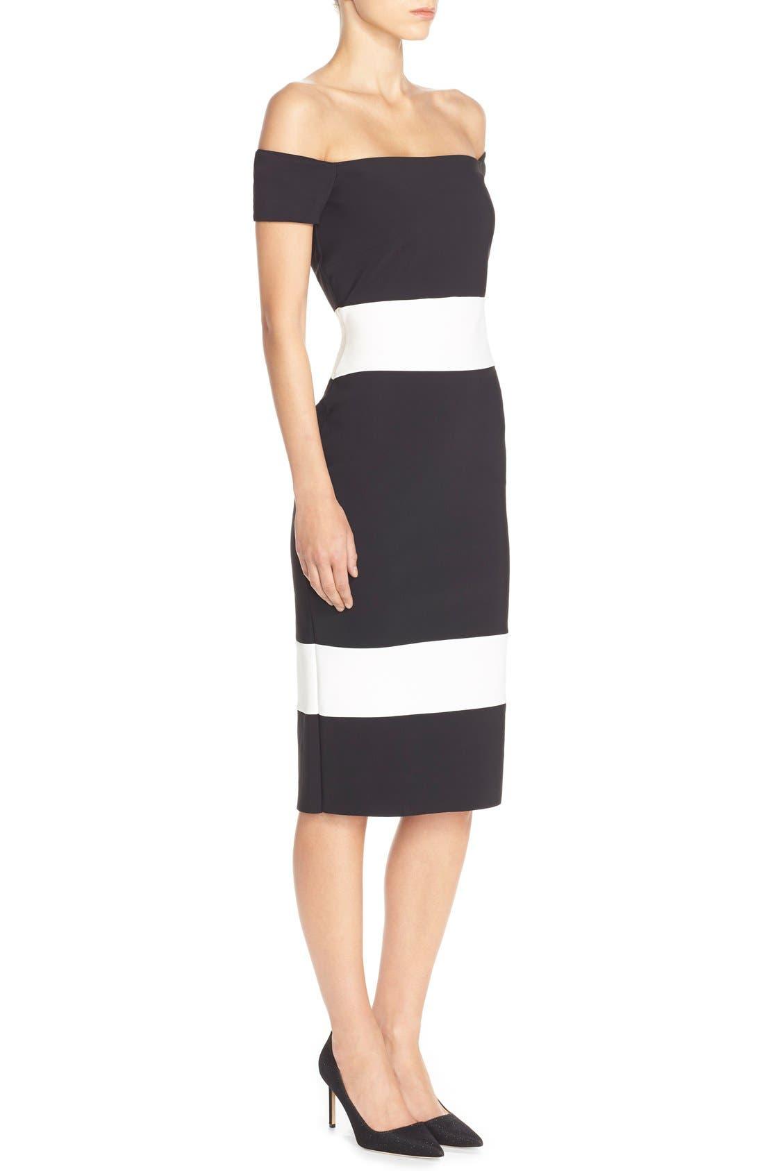 Alternate Image 3  - Chiara Boni La Petite Robe 'Bebel' Stripe Jersey Sheath Dress