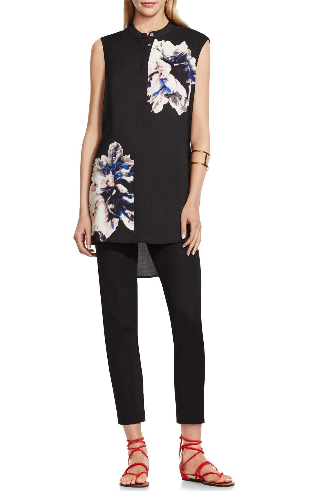 Alternate Image 2  - Vince Camuto 'Duet Floral' Sleeveless Tunic Blouse