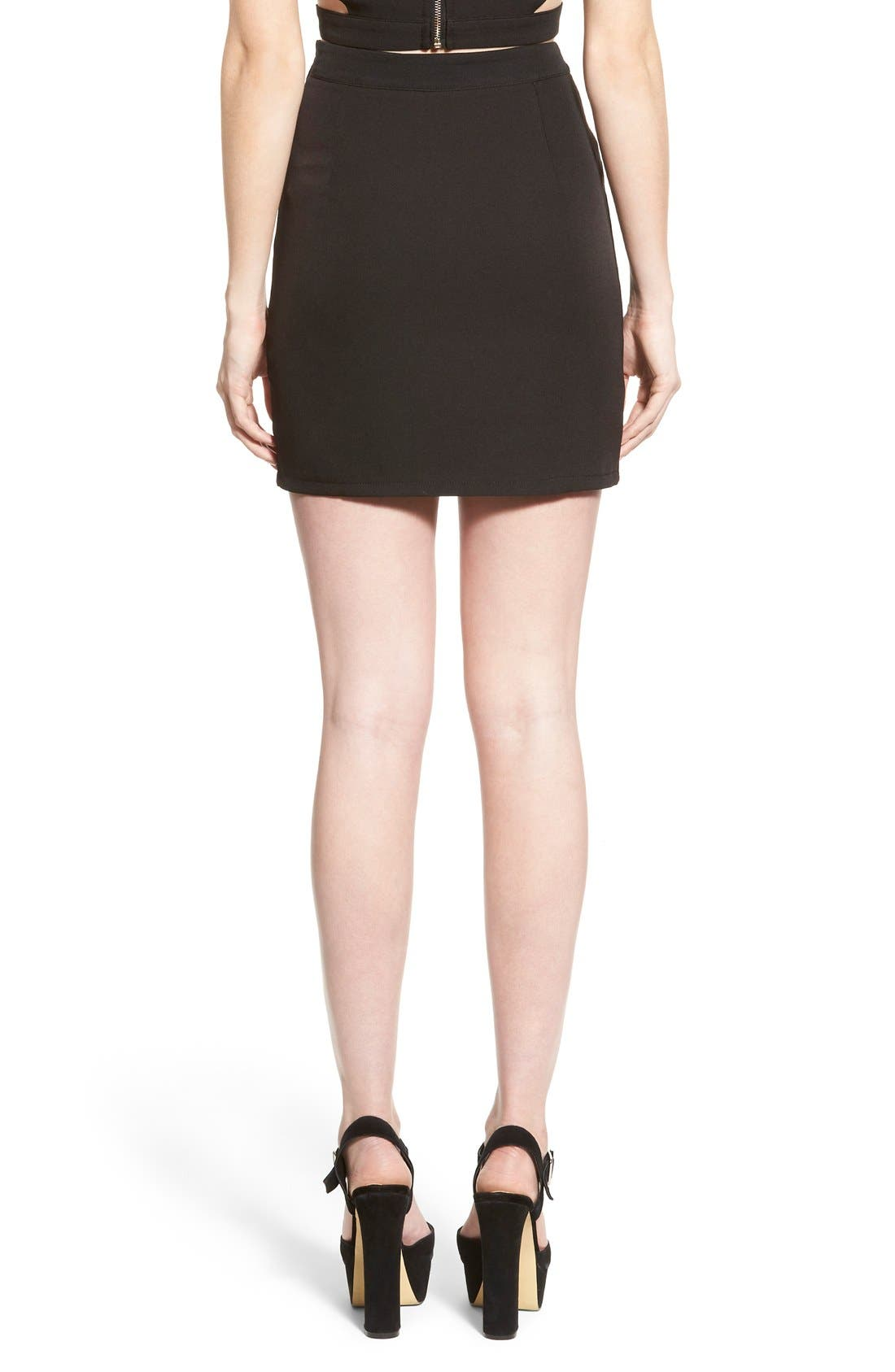 Alternate Image 2  - Missguided Asymmetrical Miniskirt