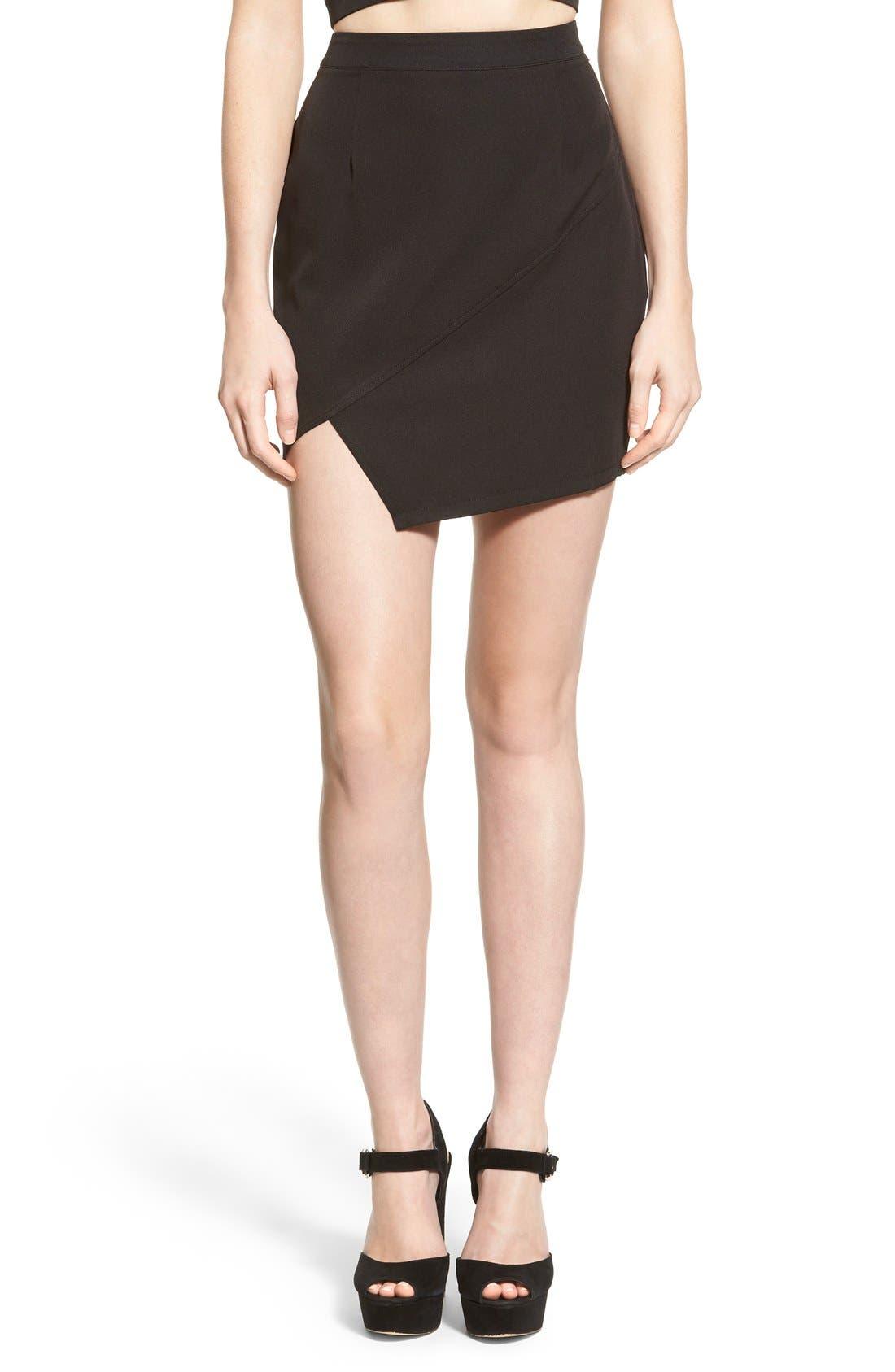 Alternate Image 1 Selected - Missguided Asymmetrical Miniskirt