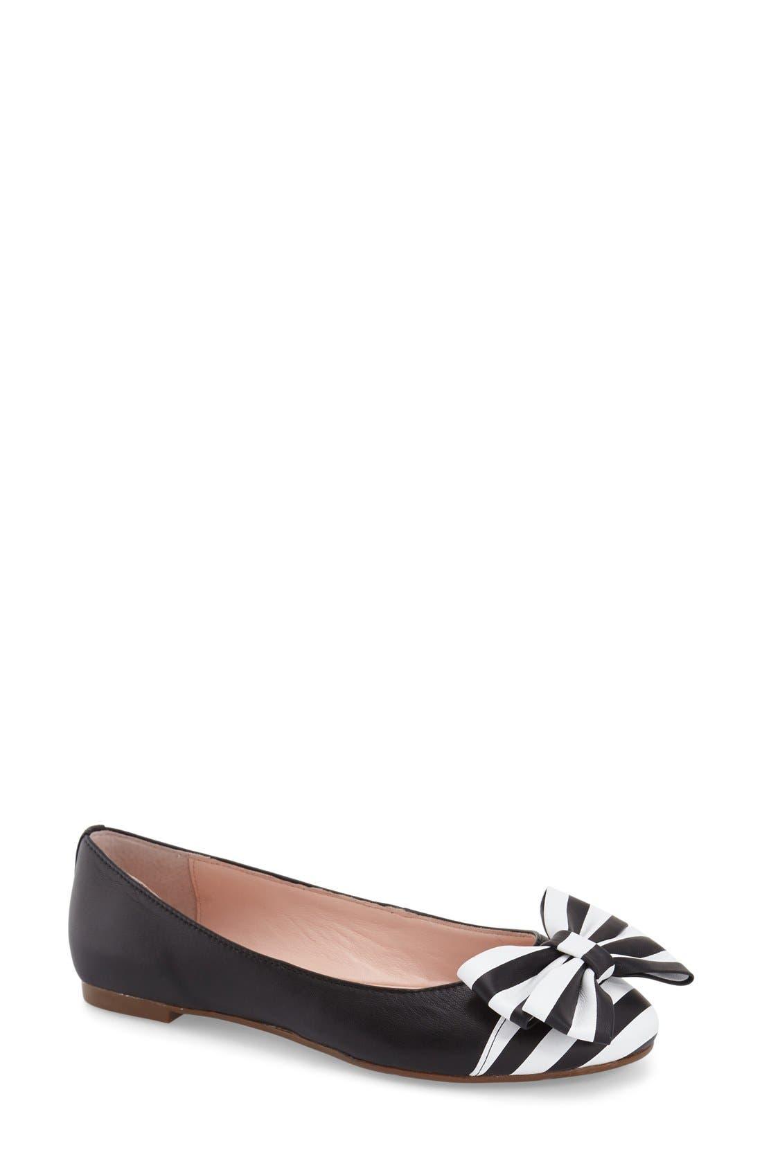 Main Image - kate spade new york 'wallace' cap toe flat (Women)