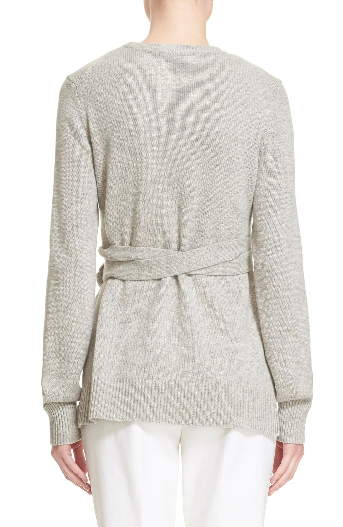 Alternate Image 3  - Michael Kors Wrap Belt Cashmere Sweater