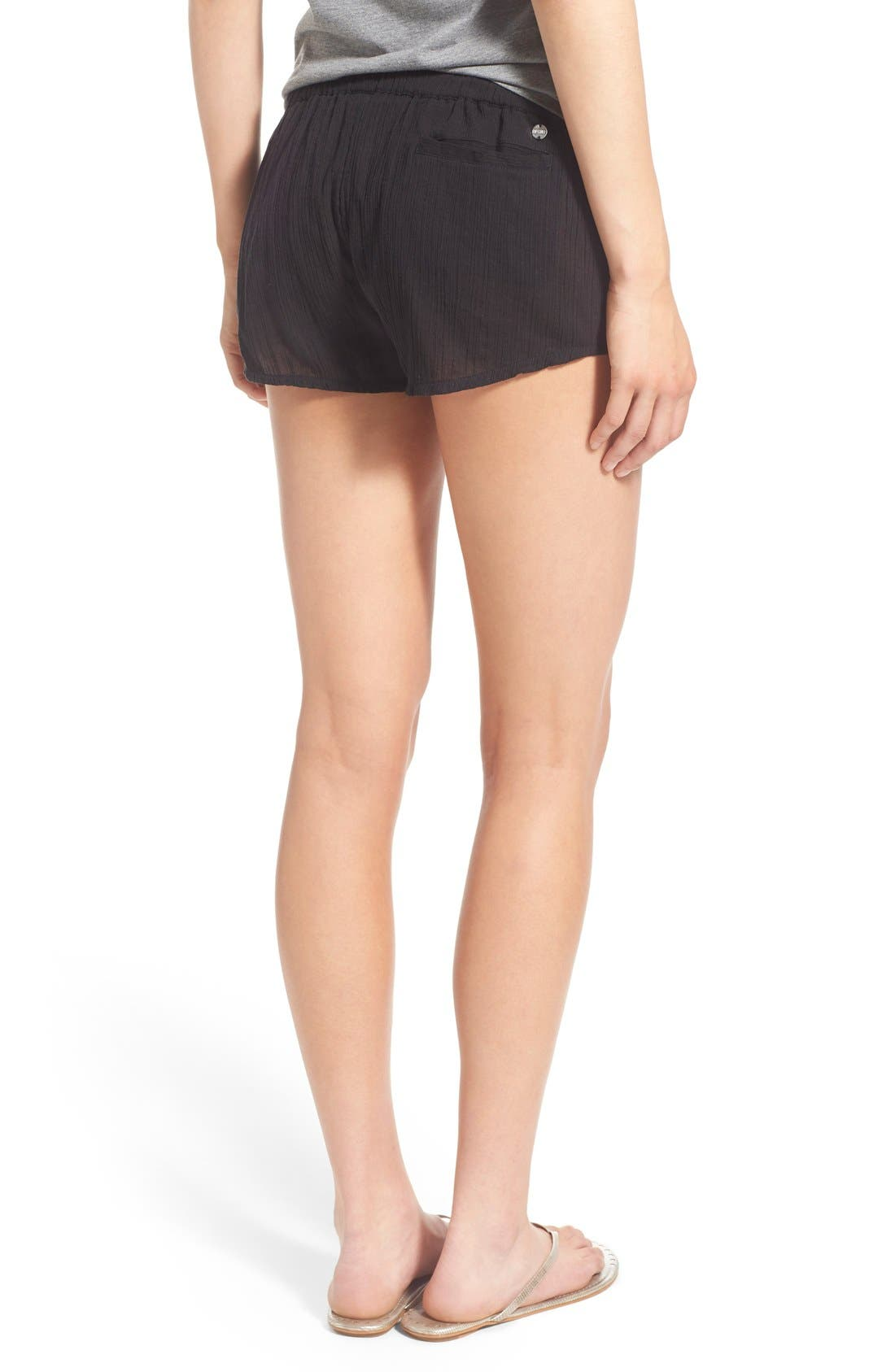 Alternate Image 2  - Rip Curl 'Love & Surf' Cotton Crepe Shorts