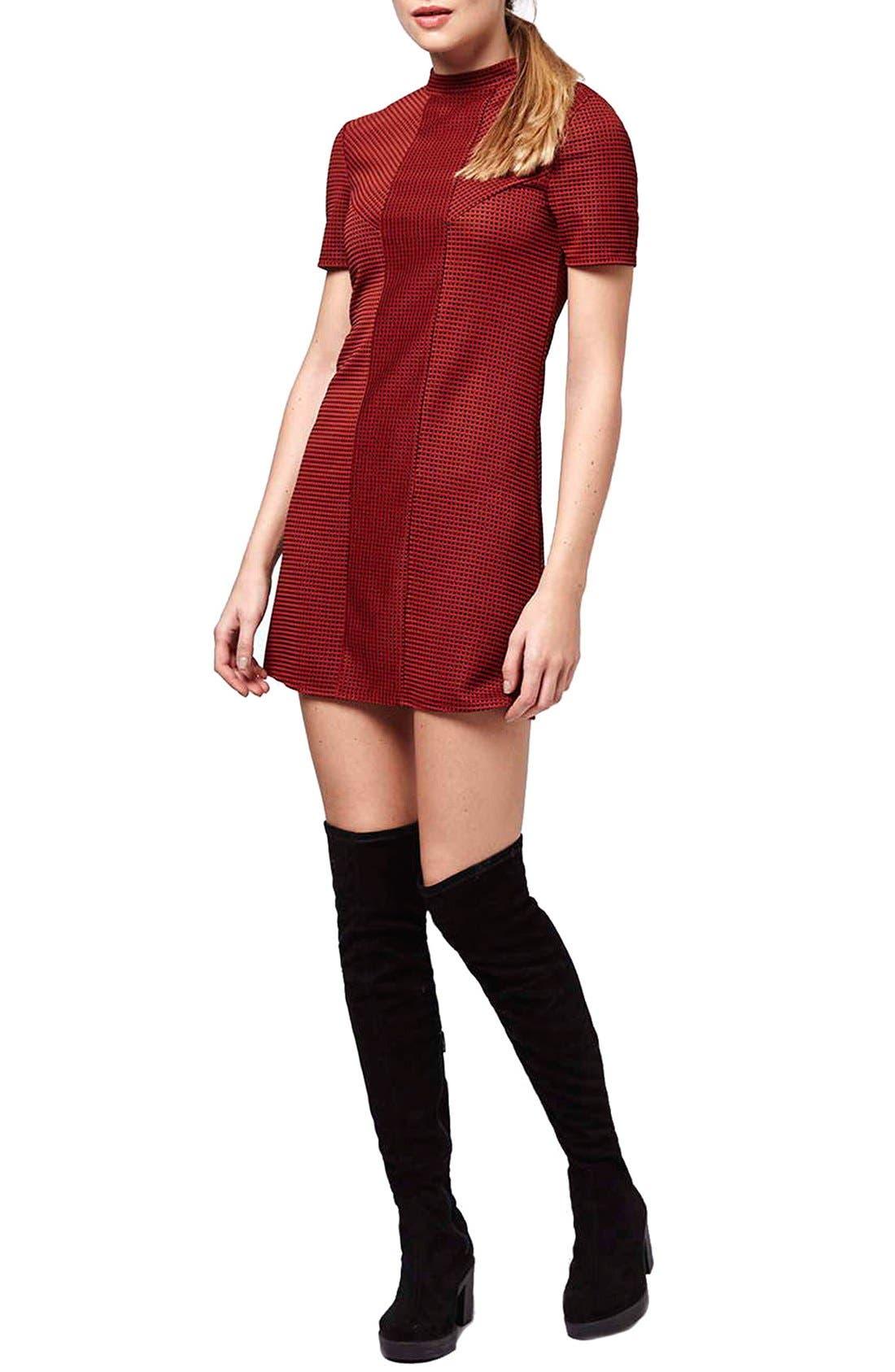 Alternate Image 1 Selected - Topshop Textured A-Line Dress