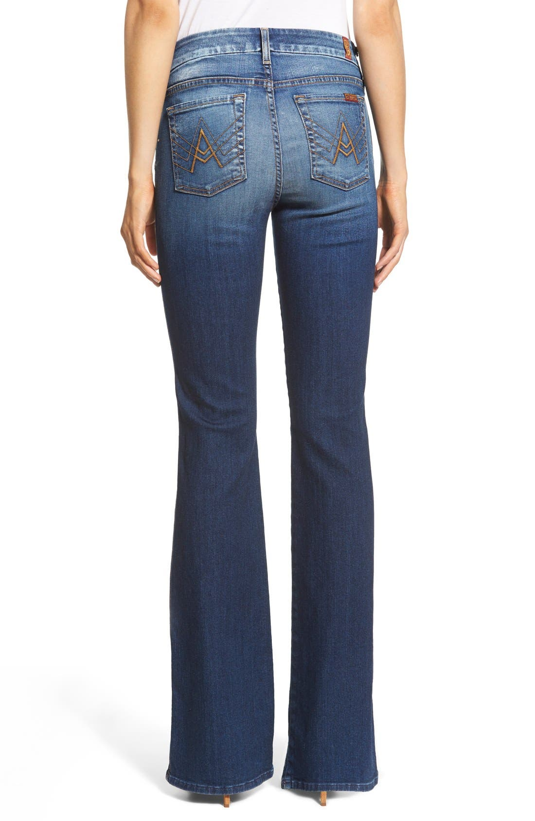 Alternate Image 2  - 7 For All Mankind® A-Pocket Flare Jeans (Bright Indigo)