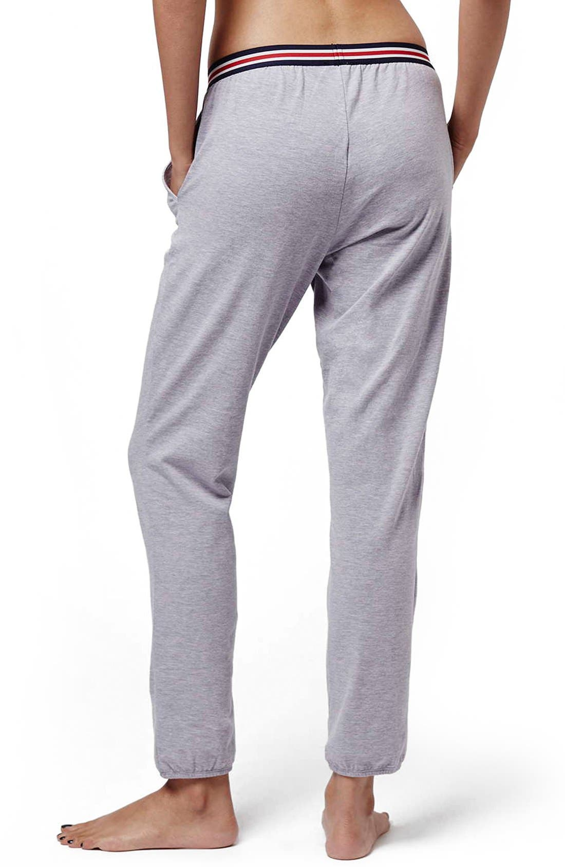 Alternate Image 3  - Topshop 'Joni' Stripe Waist Sweatpants