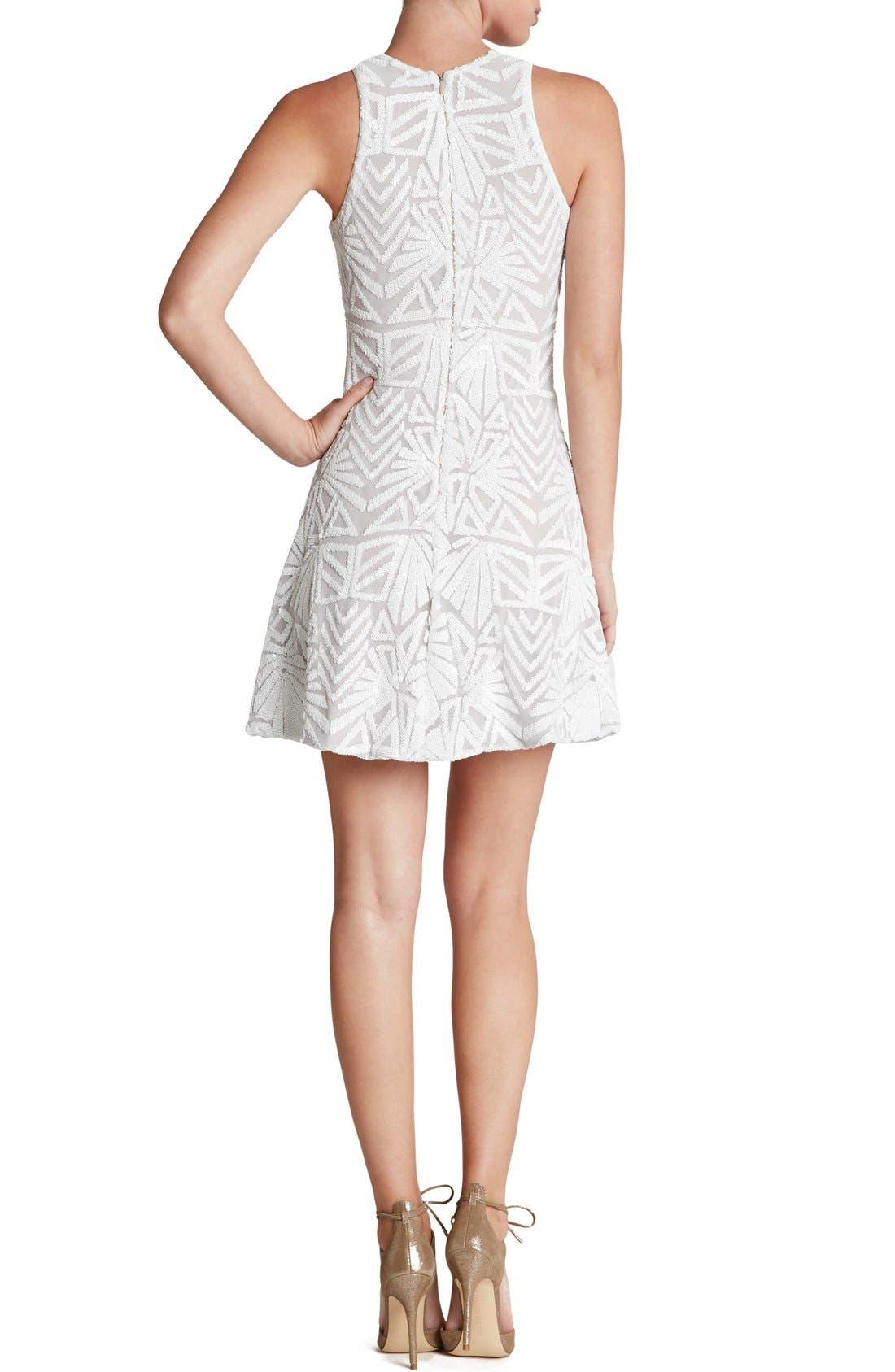 Alternate Image 2  - Dress the Population 'Mia' Sequin Sleeveless Skater Dress