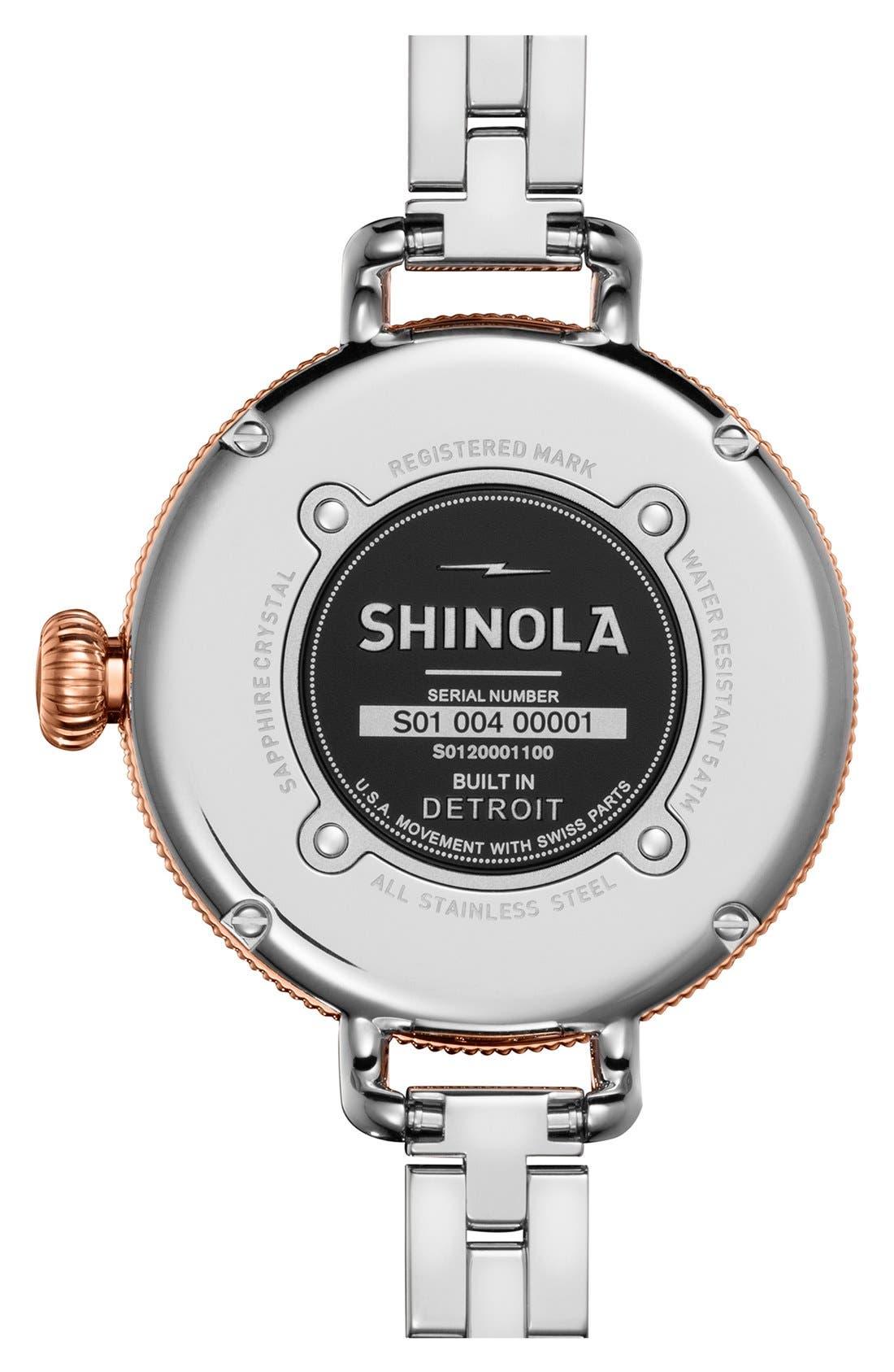 Alternate Image 2  - Shinola 'The Birdy' Bracelet Watch, 34mm
