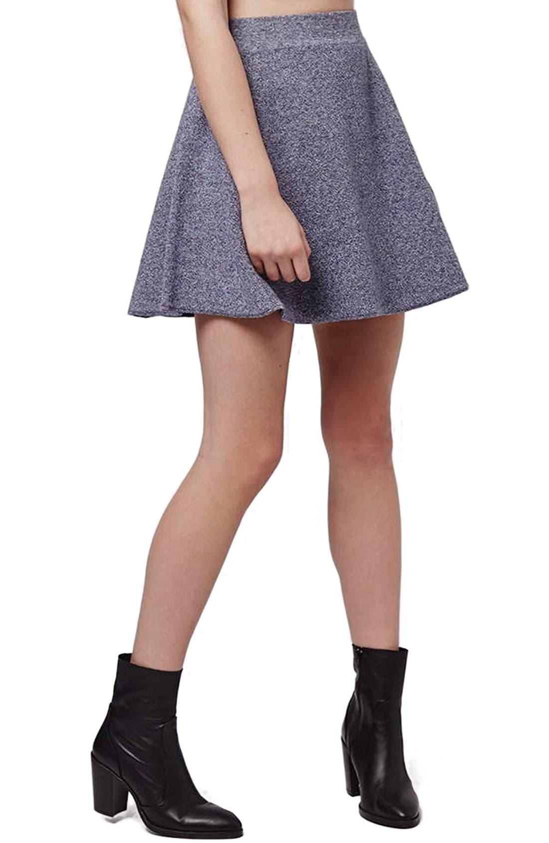 Main Image - Topshop Flippy A-Line Skirt