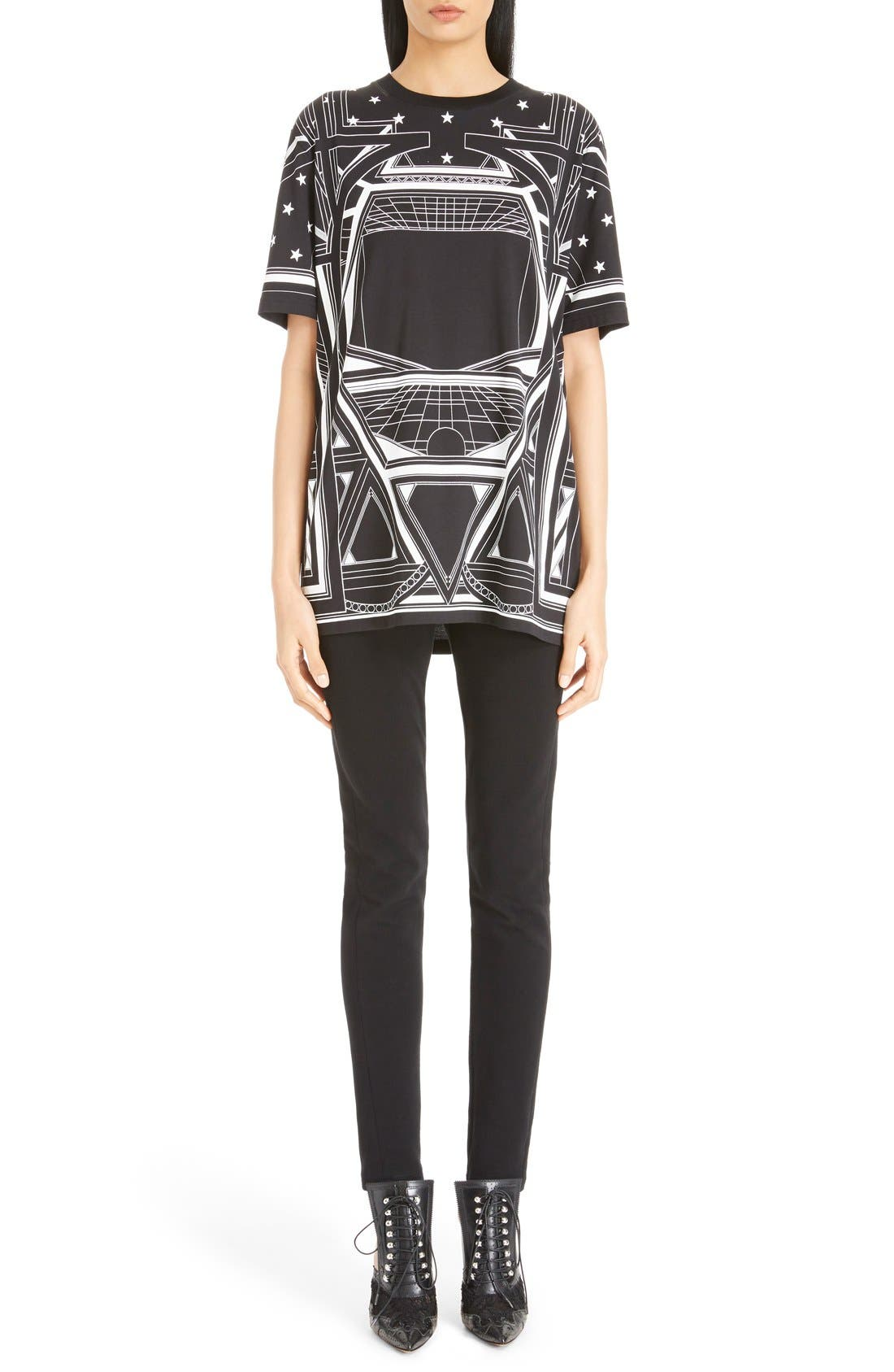Alternate Image 1 Selected - Givenchy Star & Abstract Print Cotton Tee