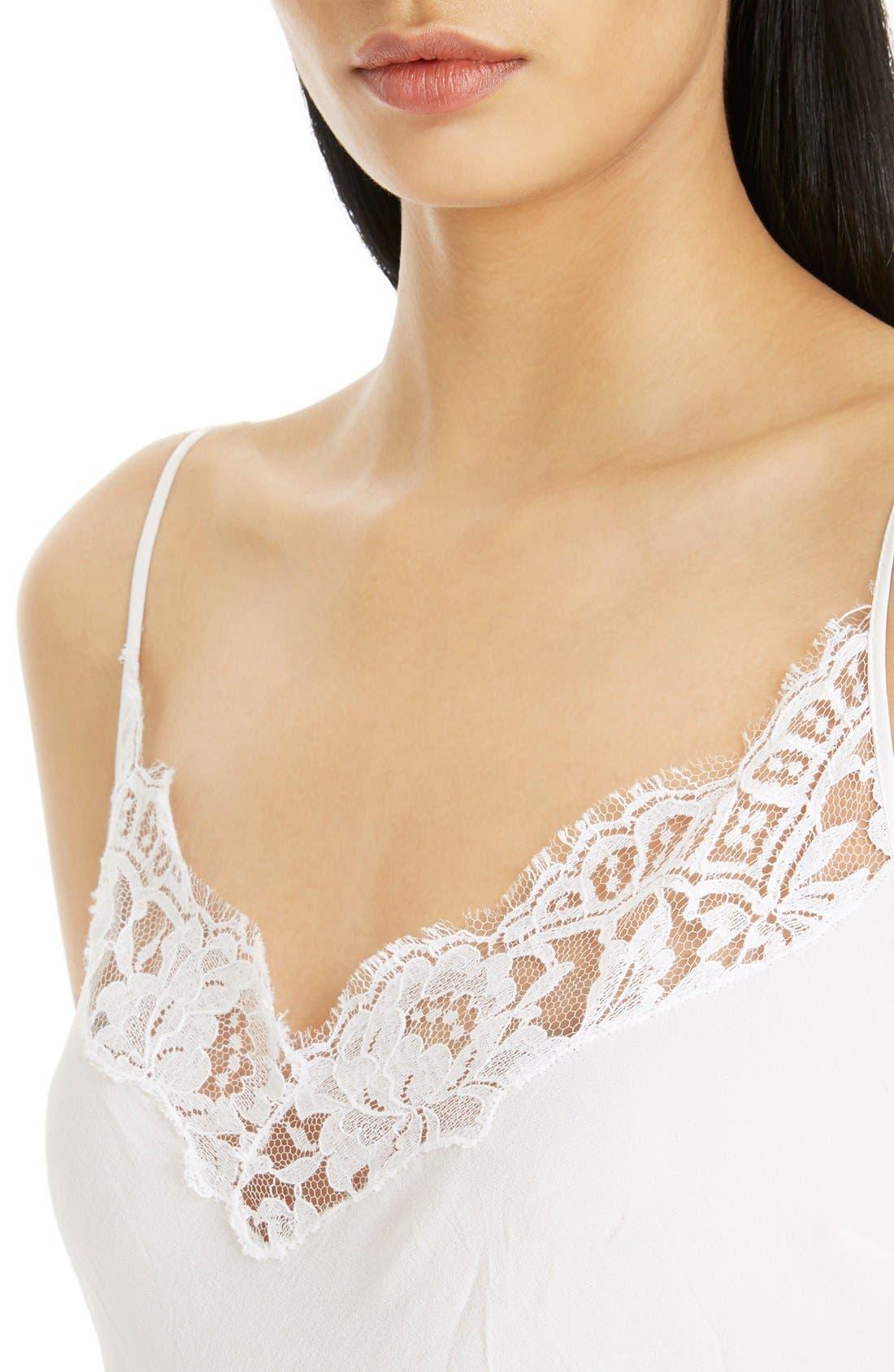 Alternate Image 5  - Givenchy Lace Trim Silk Crepe Dress