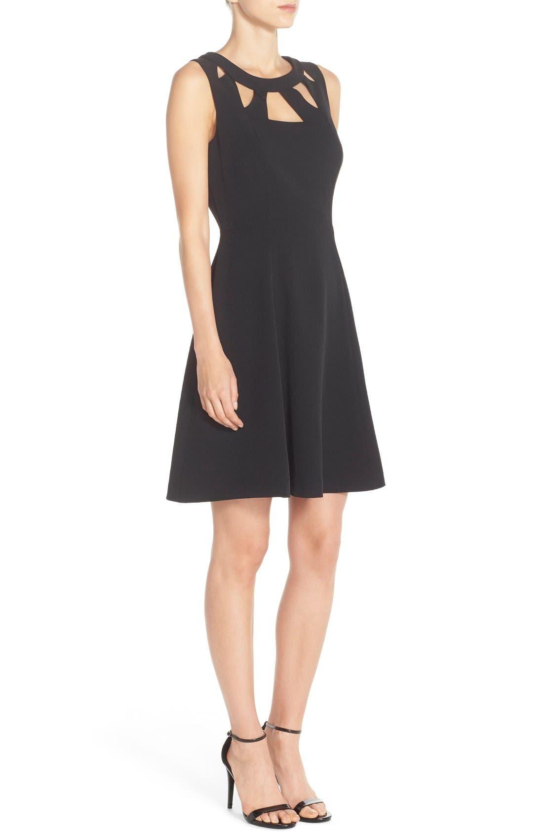 Alternate Image 3  - Eliza J Cutout Crepe Fit & Flare Dress