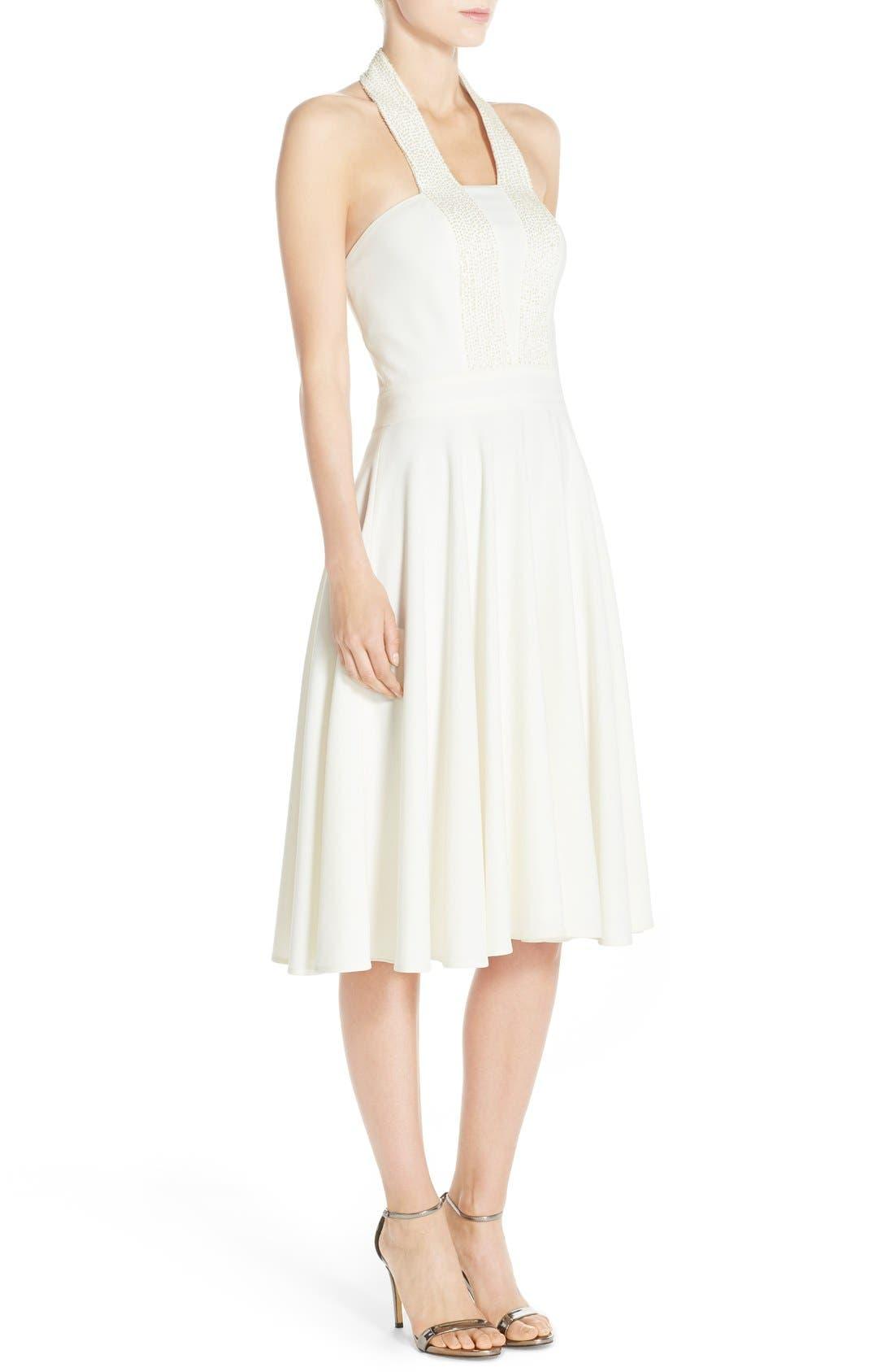 Alternate Image 3  - Halston Heritage Embellished Halter Dress