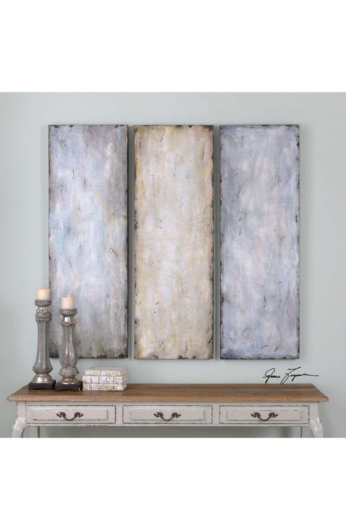 Alternate Image 2  - Uttermost 'Textured Trio' Abstract Wall Art (Set of 3)