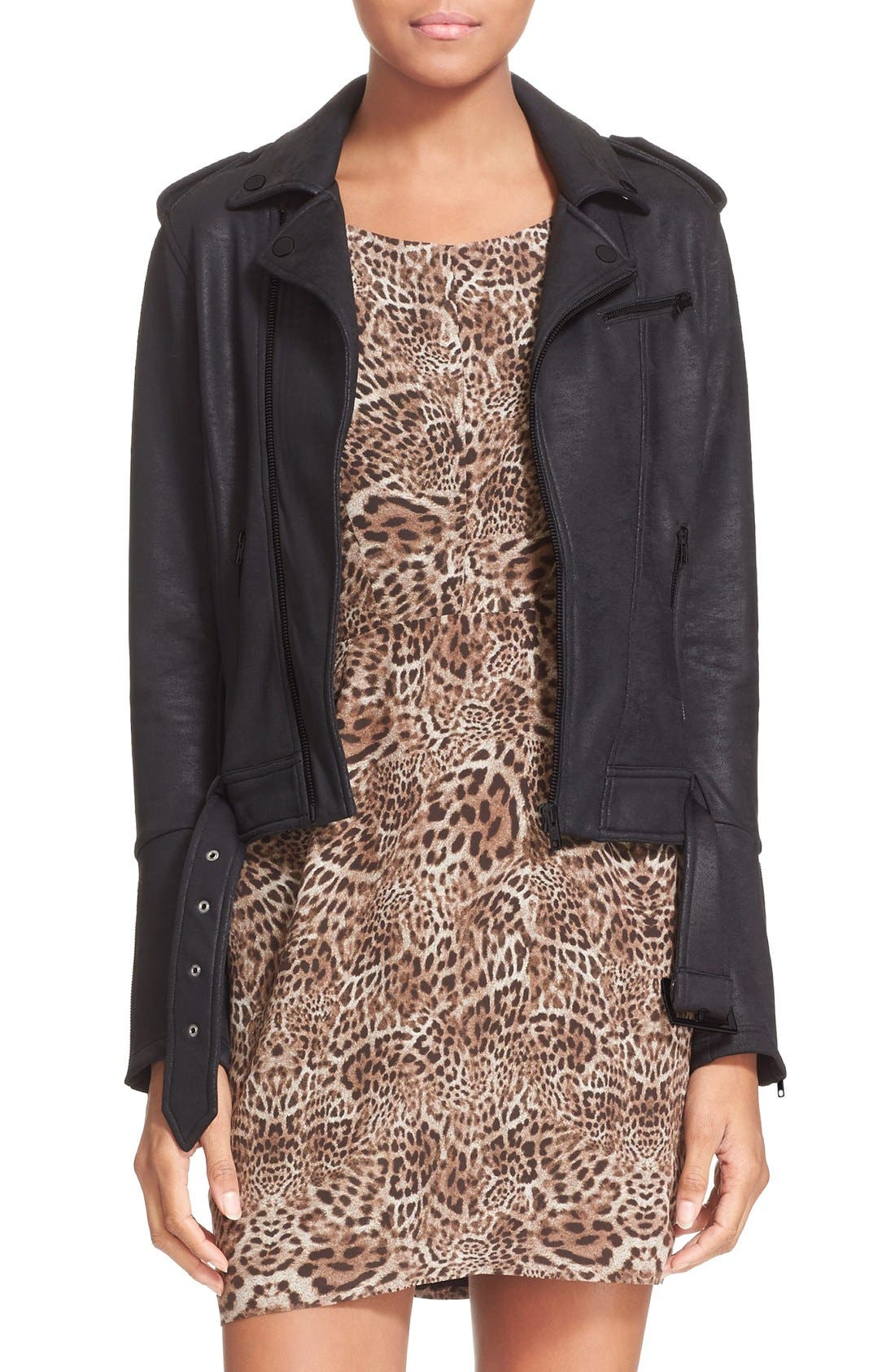 Alternate Image 1 Selected - The Kooples Faux Leather Moto Jacket