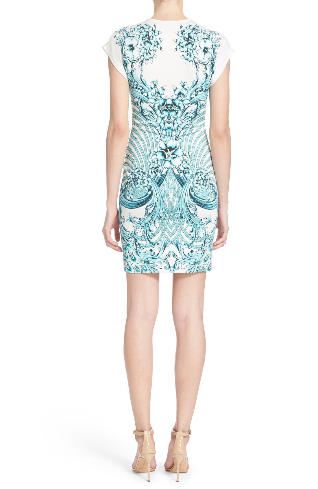 Alternate Image 2  - Just Cavalli Peacock Jersey Body-Con Dress