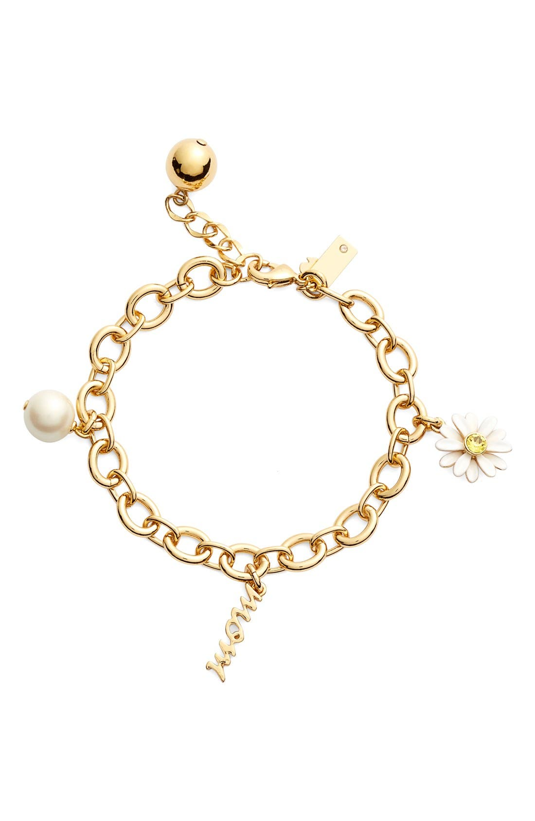 Main Image - kate spade new york 'how charming - mother's day' charm bracelet