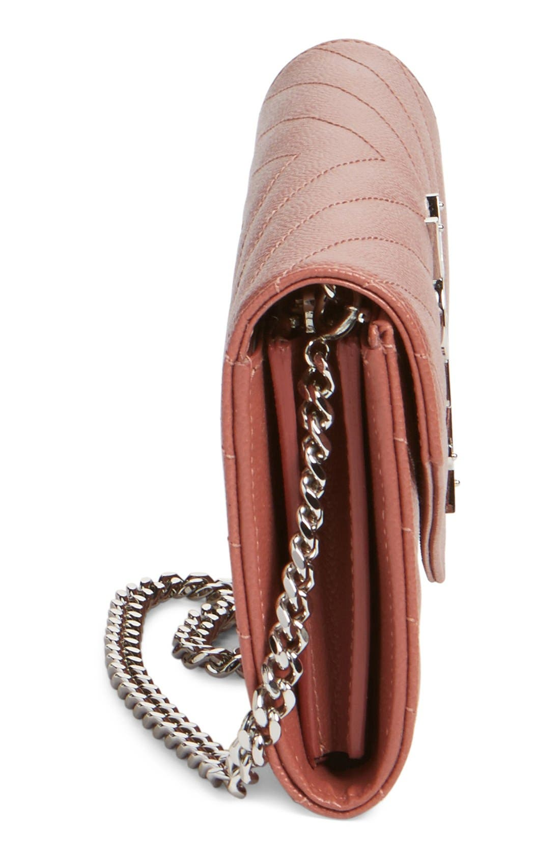 Alternate Image 5  - Saint Laurent 'Small Monogram' Calfskin Wallet on a Chain