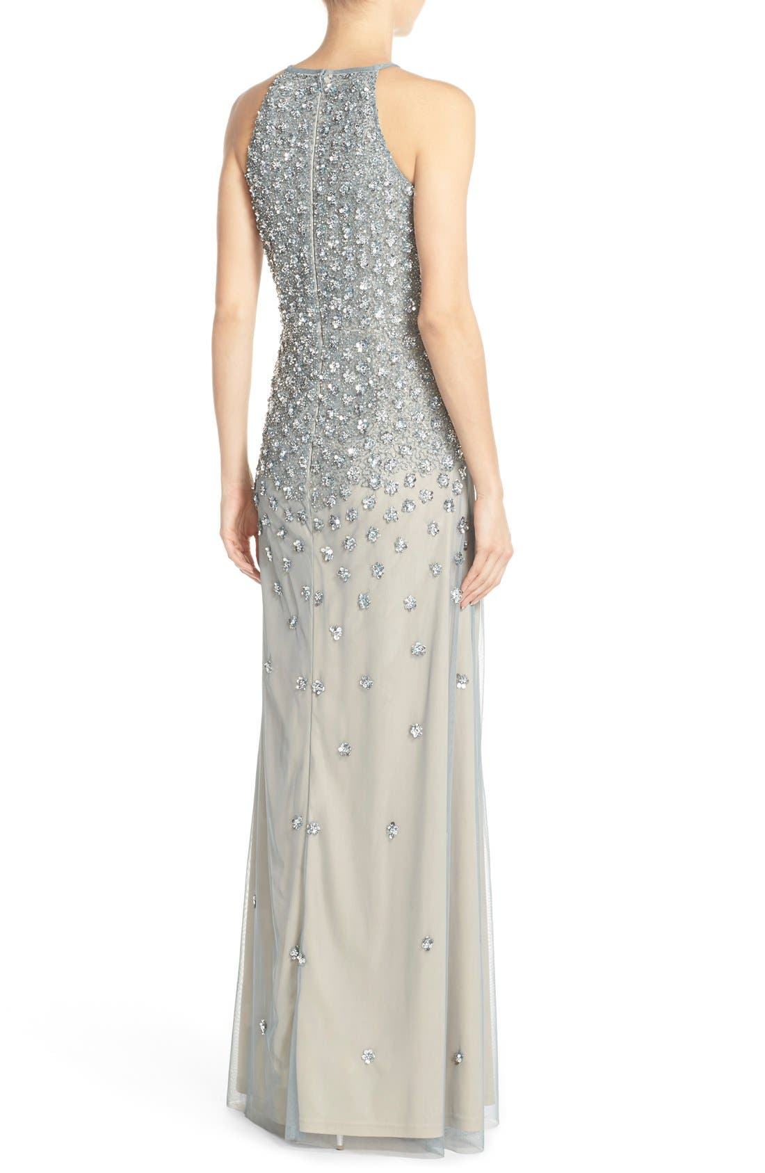 Alternate Image 2  - Adrianna Papell Embellished Tulle Column Gown