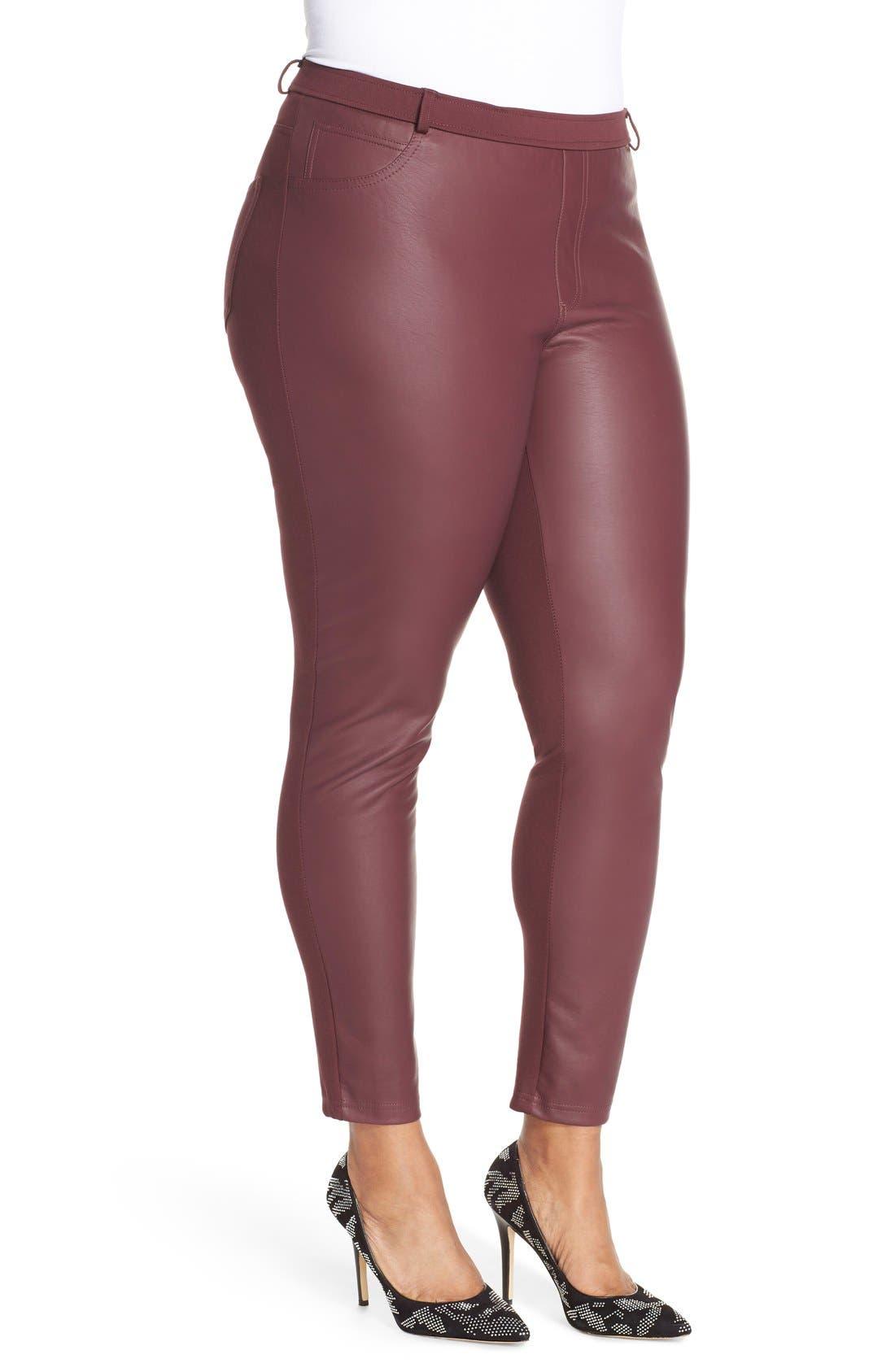 Alternate Image 3  - Tart 'Morgan' Faux Leather & Ponte Leggings (Plus Size)