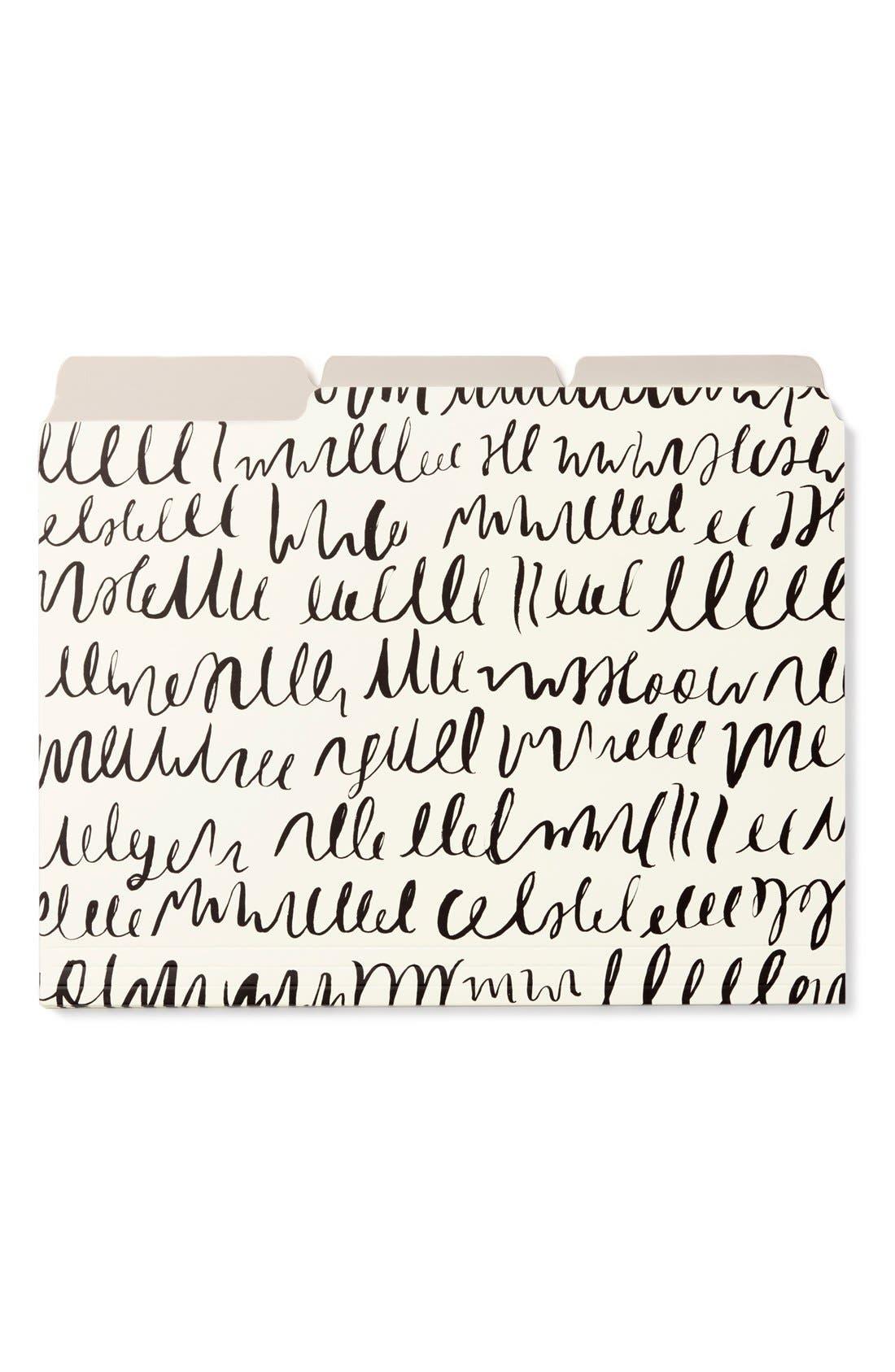 kate spade new york 'hidden meaning' file folder (Set of 6)