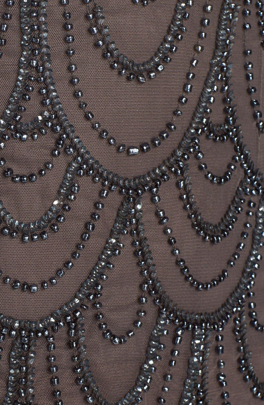 Alternate Image 5  - Pisarro Nights Beaded Mesh Gown (Regular & Petite)