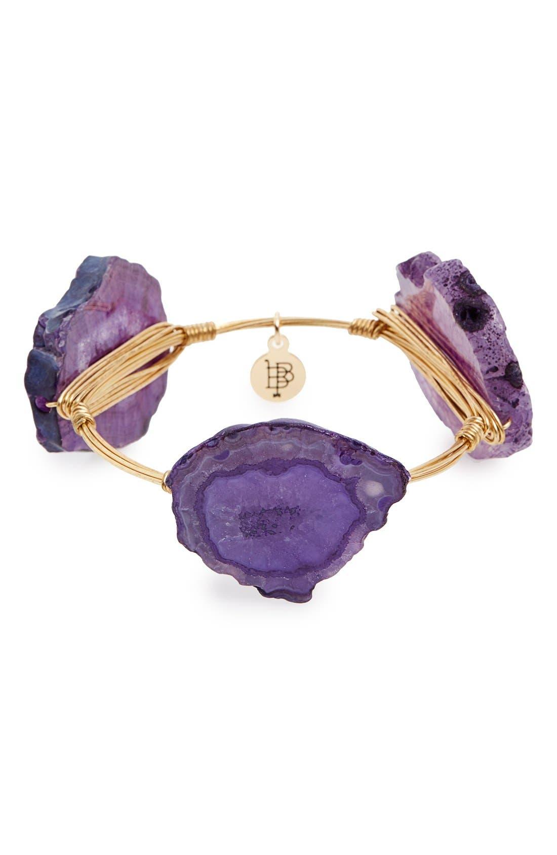 Alternate Image 1 Selected - Bourbon and Boweties Stone Bracelet