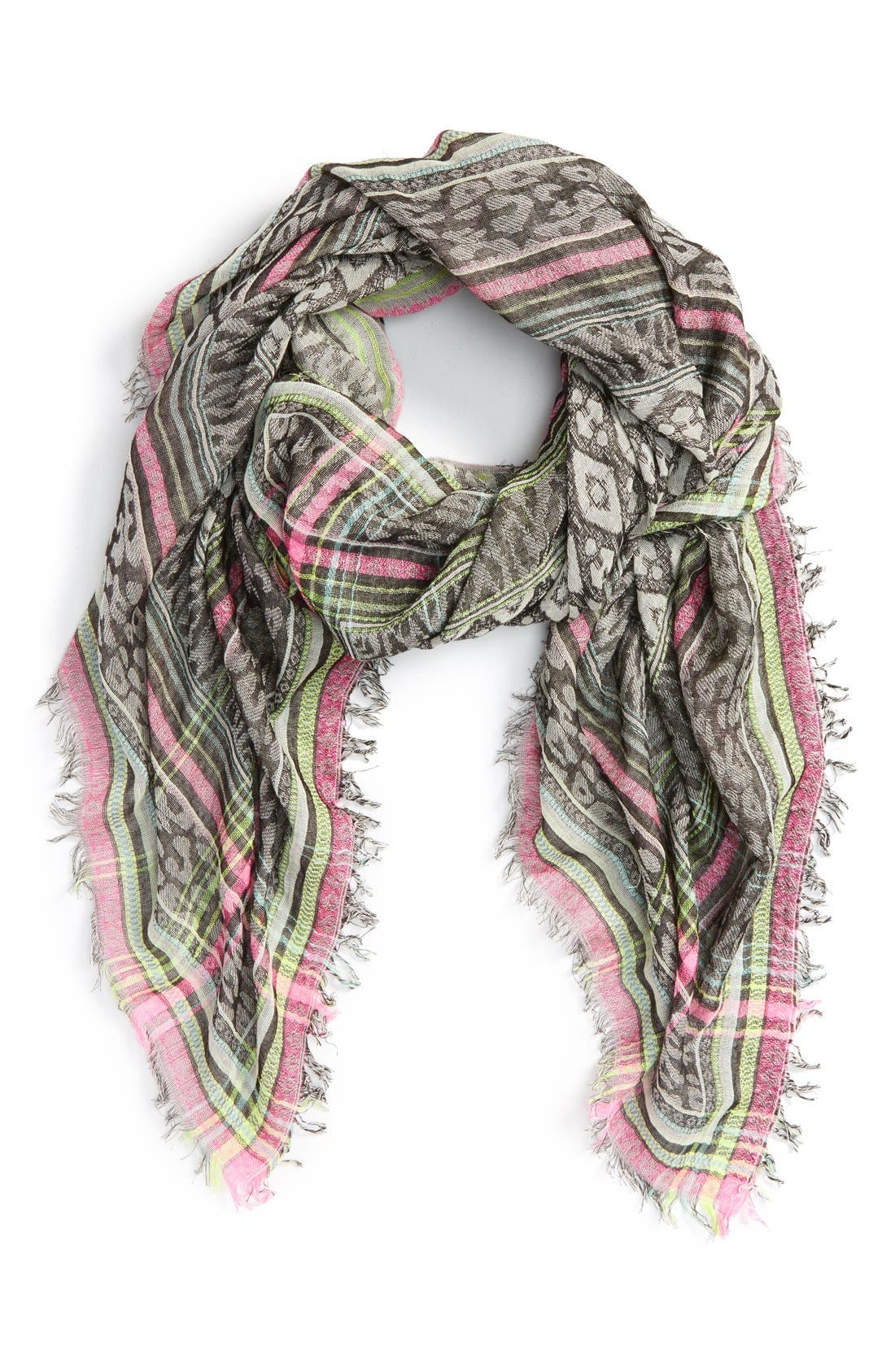 Alternate Image 1 Selected - Betsey Johnson 'Animal Party' Square Scarf