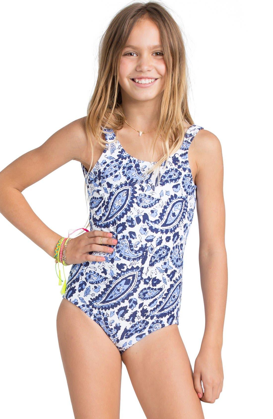 Billabong Penny Paisley One Piece Swimsuit Little Girls