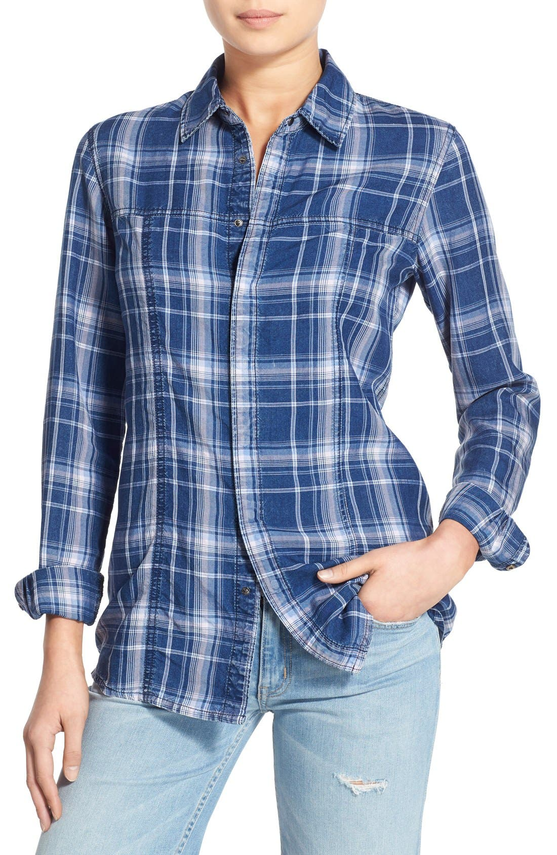 Alternate Image 1 Selected - Hudson Jeans 'Britt' Plaid Shirt
