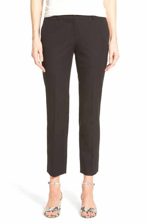 Halogen® Crop Stretch Cotton Pants (Regular   Petite)
