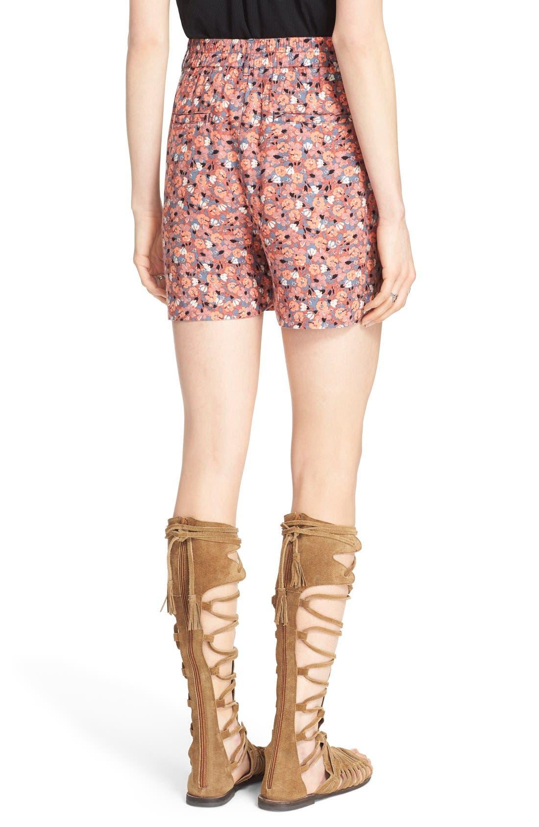 Alternate Image 2  - Free People 'Layla' Floral Print Shorts