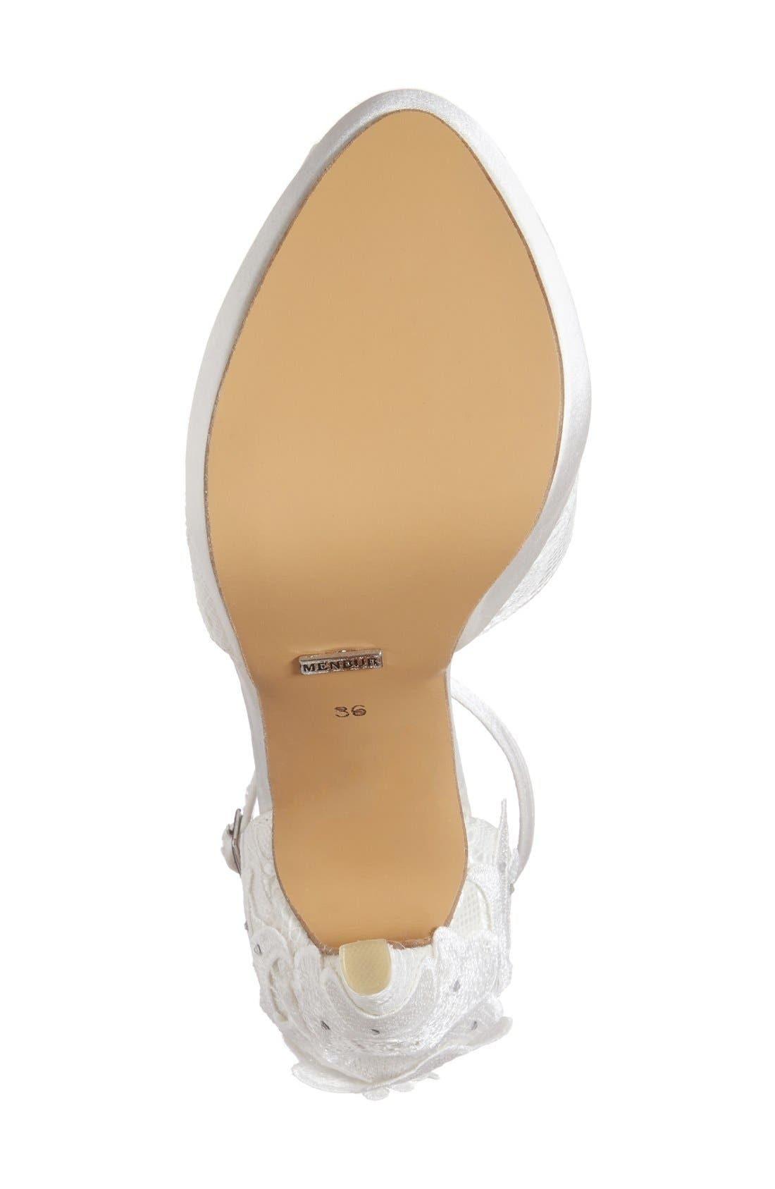 Alternate Image 4  - Menbur 'Dafne' Lace & Crystal Platform Sandal (Women)
