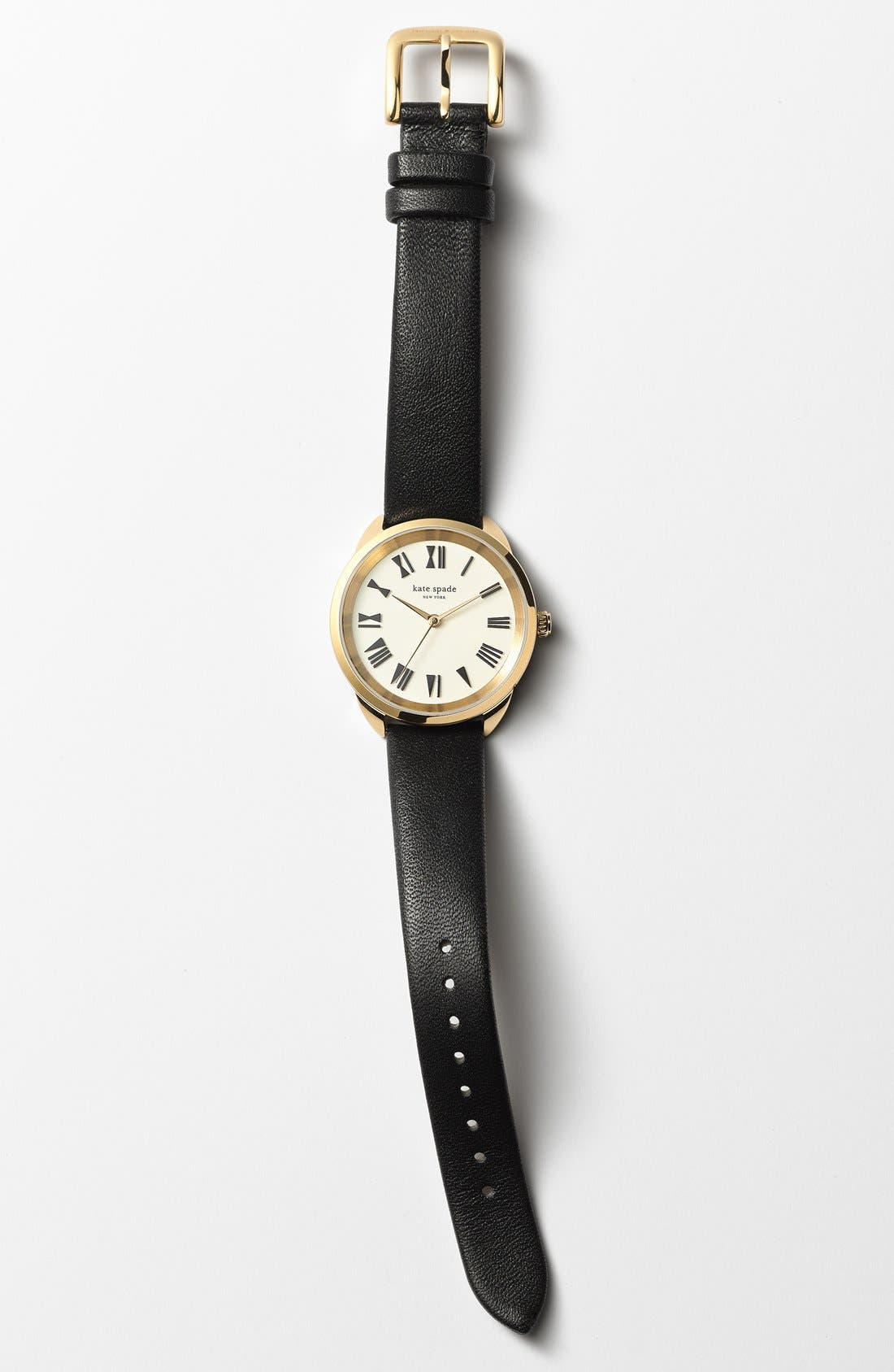 Alternate Image 3  - kate spade new york 'crosstown' leather strap watch, 34mm
