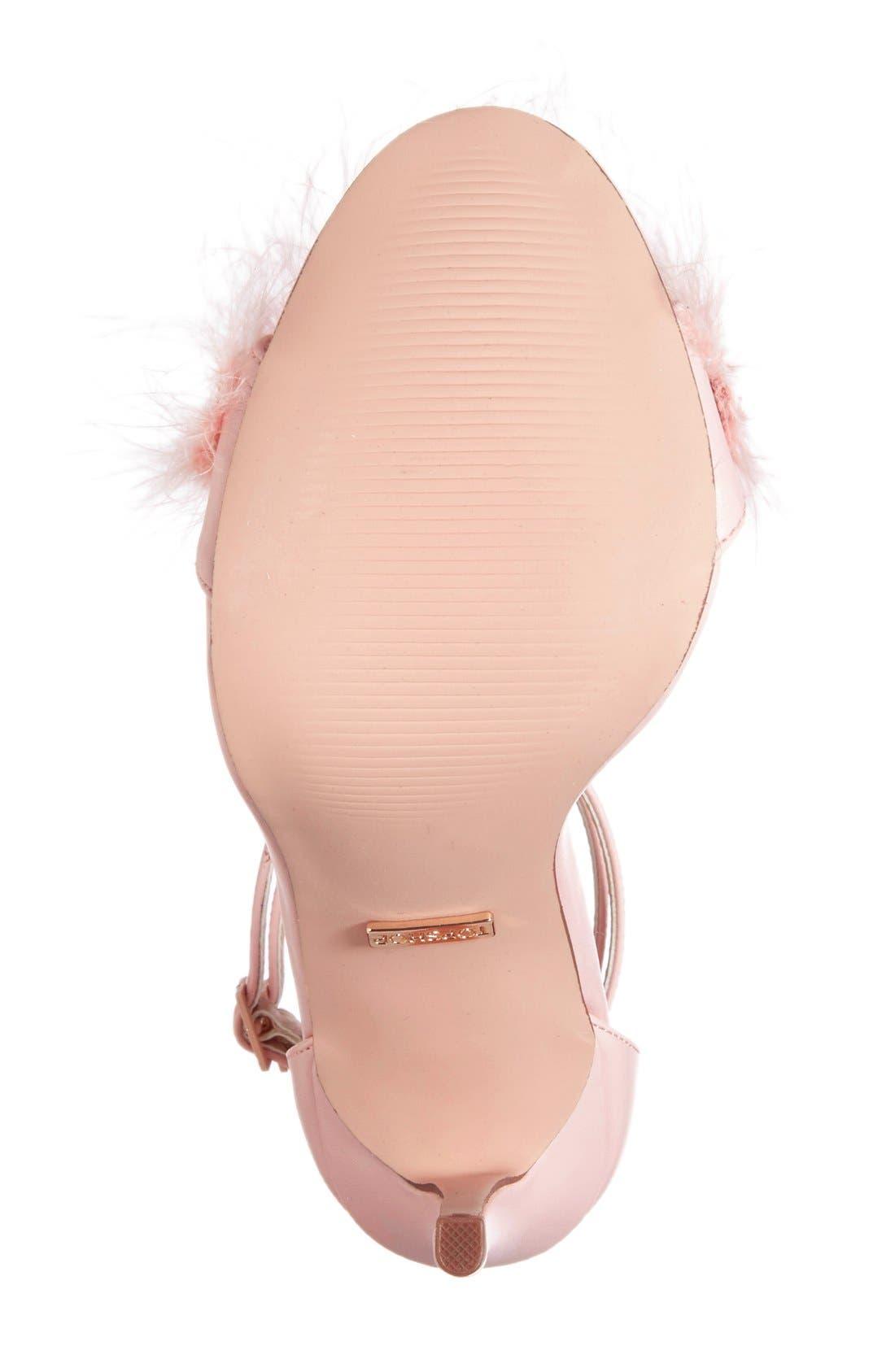 Alternate Image 4  - Topshop 'Reese' Feather Sandal (Women)