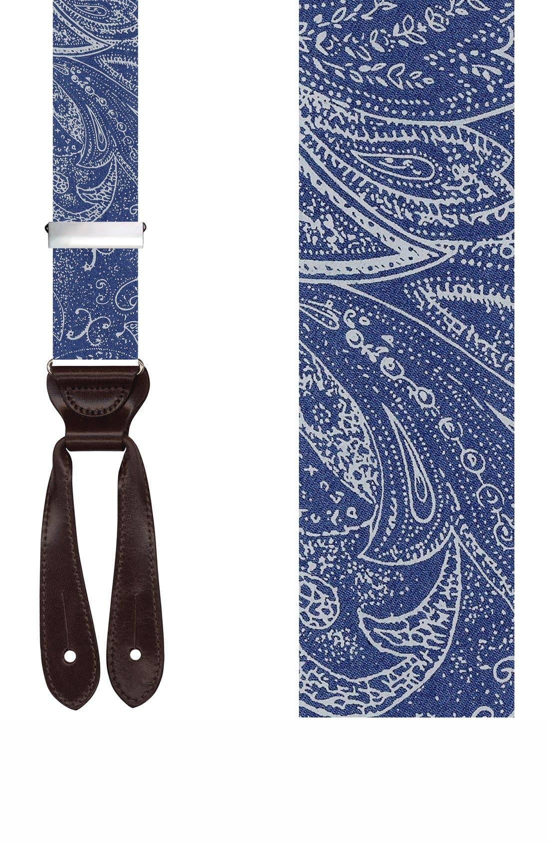 TRAFALGAR 'Matera' Silk Suspenders