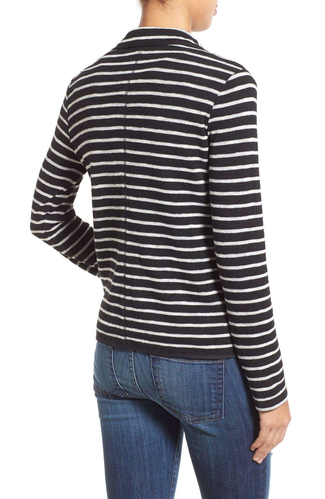 Alternate Image 2  - Caslon® One-Button Knit Blazer (Regular & Petite)