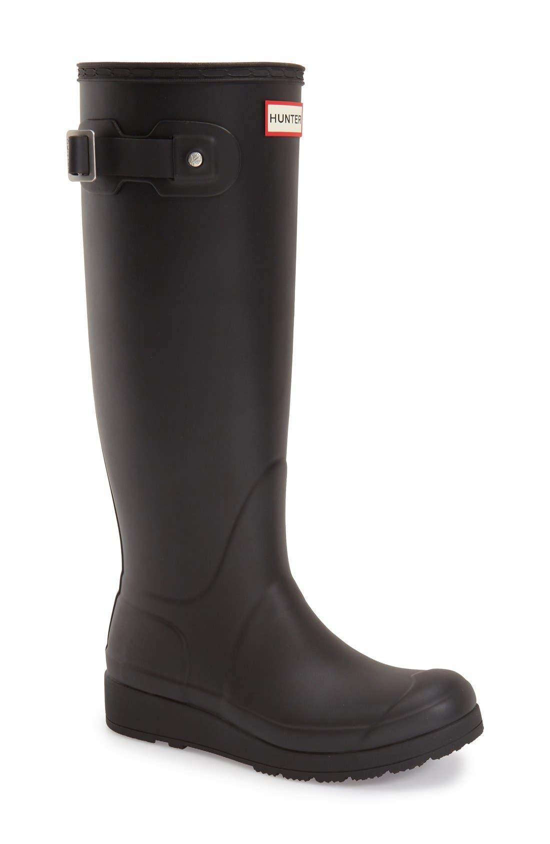 Main Image - Hunter 'Original Tall- Wedge' Rain Boot (Women)