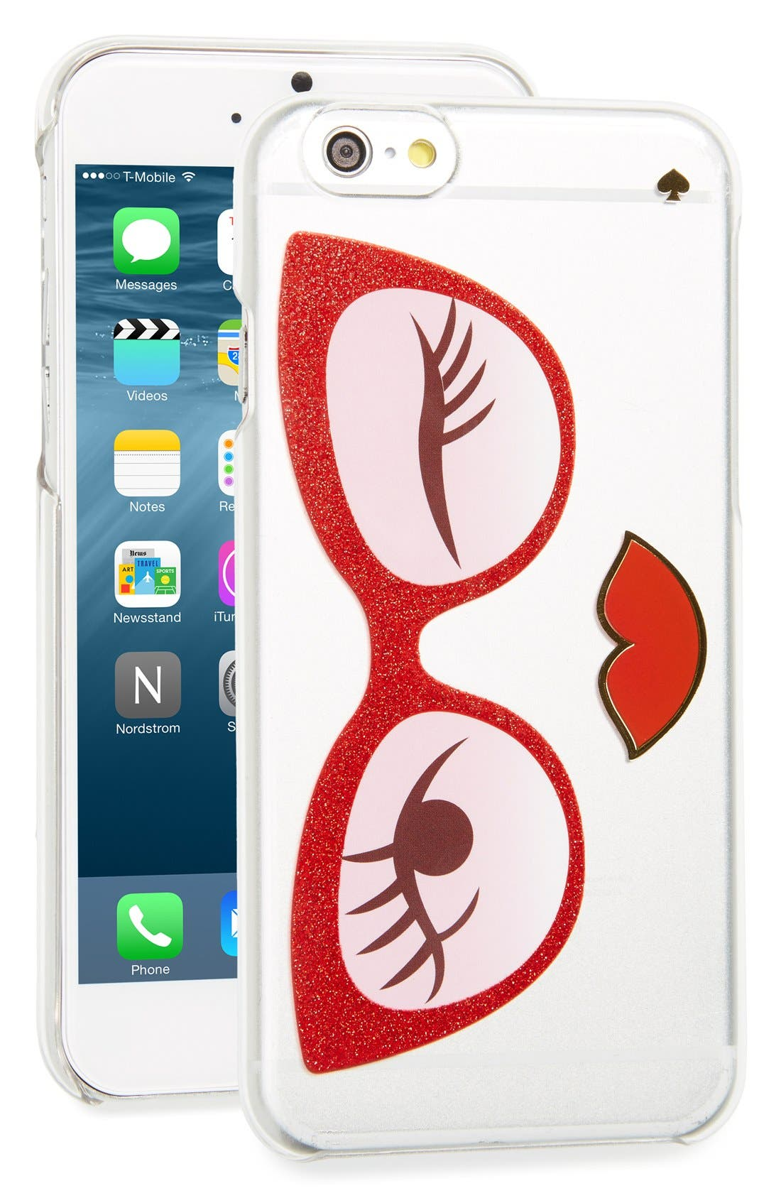 Alternate Image 1 Selected - kate spade new york 'rose colored glasses' iPhone 6 & 6s case