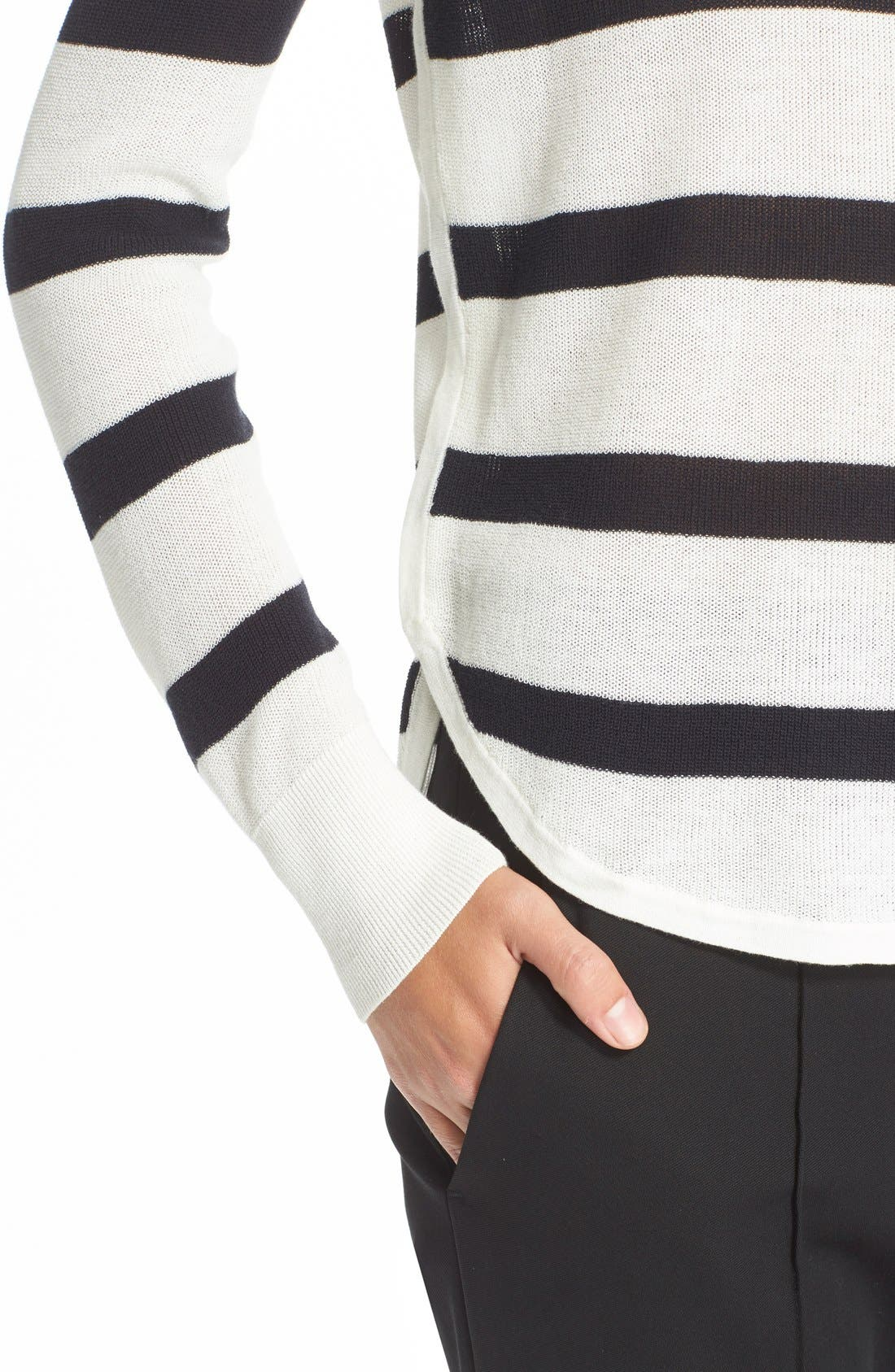 Alternate Image 4  - A.L.C. 'Riley' Stripe Cotton Sweater