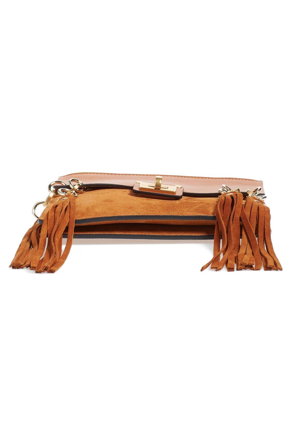 Alternate Image 5  - Chloé 'Small Jane' Tassel Suede & Leather Crossbody Bag