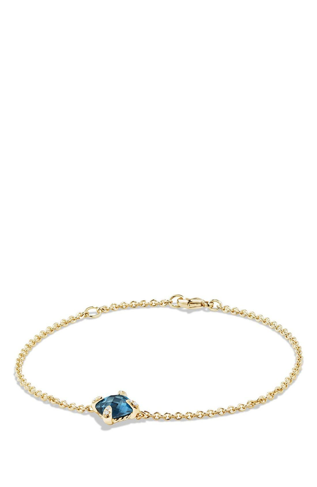 DAVID YURMAN 'Châtelaine' Bracelet with Diamonds in 18K