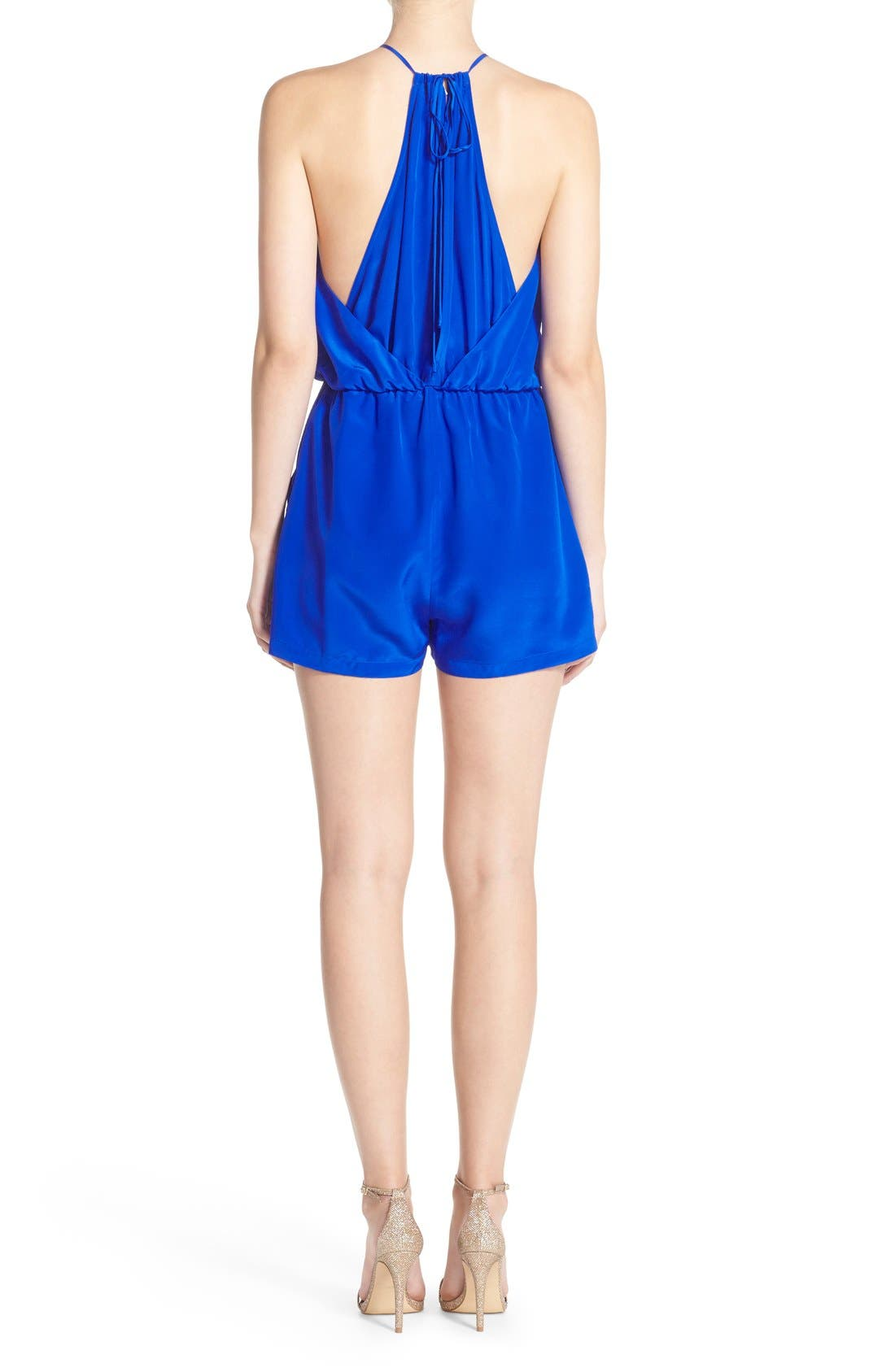 Alternate Image 2  - Charlie Jade Sleeveless Silk Romper