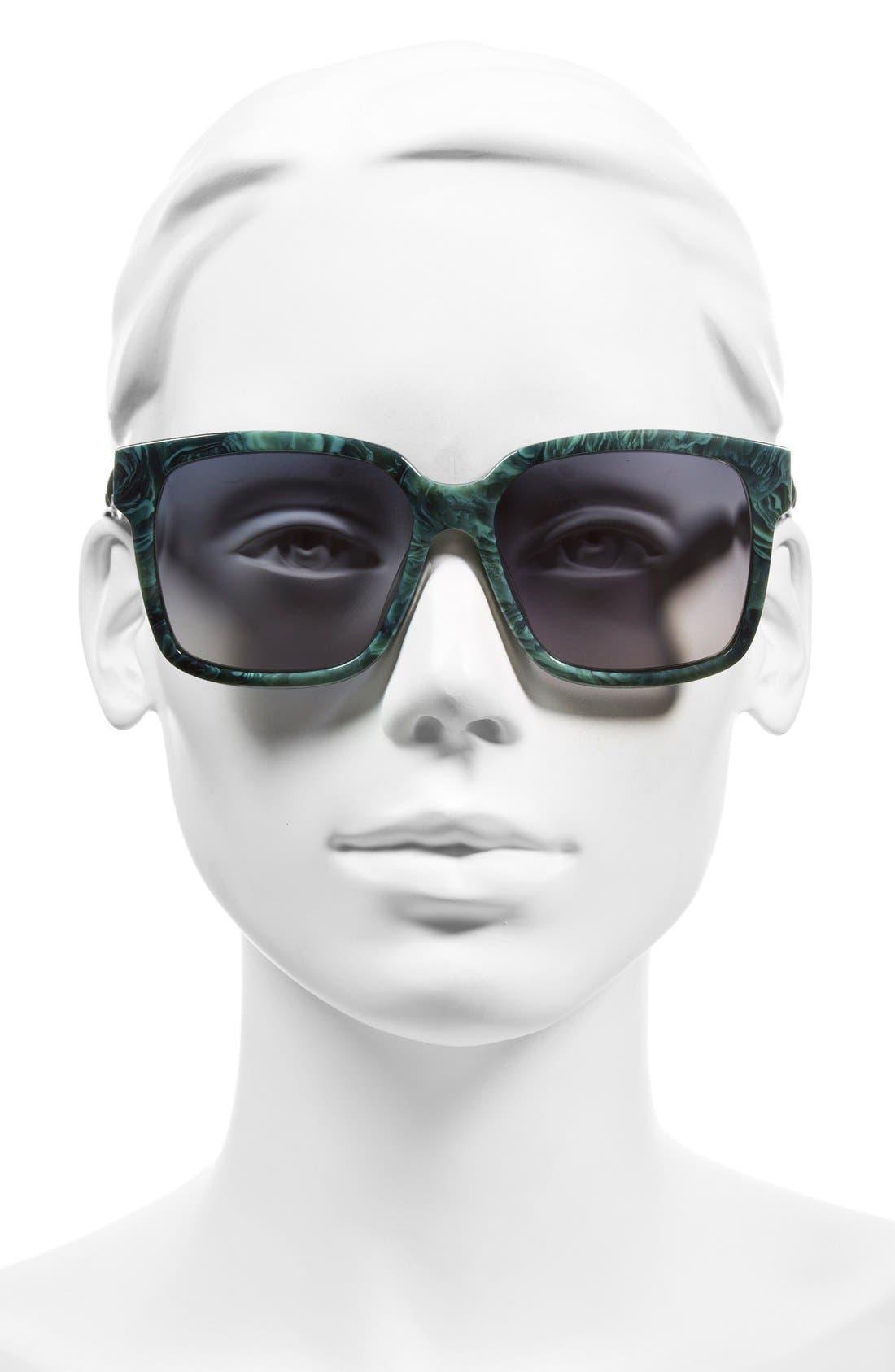 Alternate Image 2  - Balenciaga Paris 'BA0053' 55mm Cat Eye Sunglasses