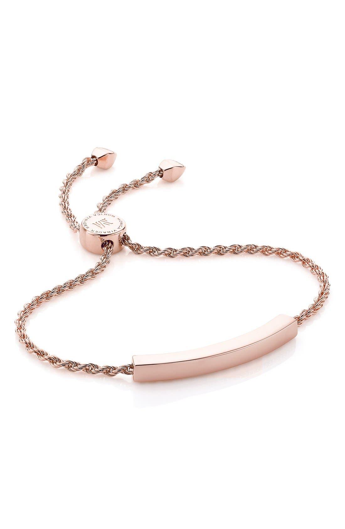 Alternate Image 1 Selected - Monica Vinader 'Linear' Friendship Chain Bracelet