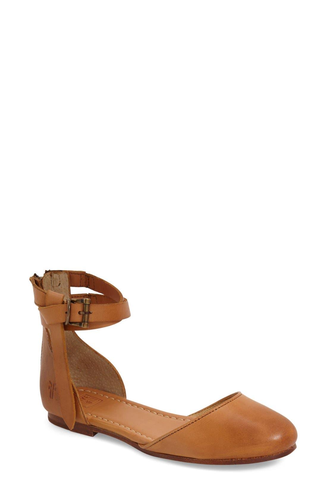 Main Image - Frye 'Carson' Ankle Strap Ballet Flat (Women)