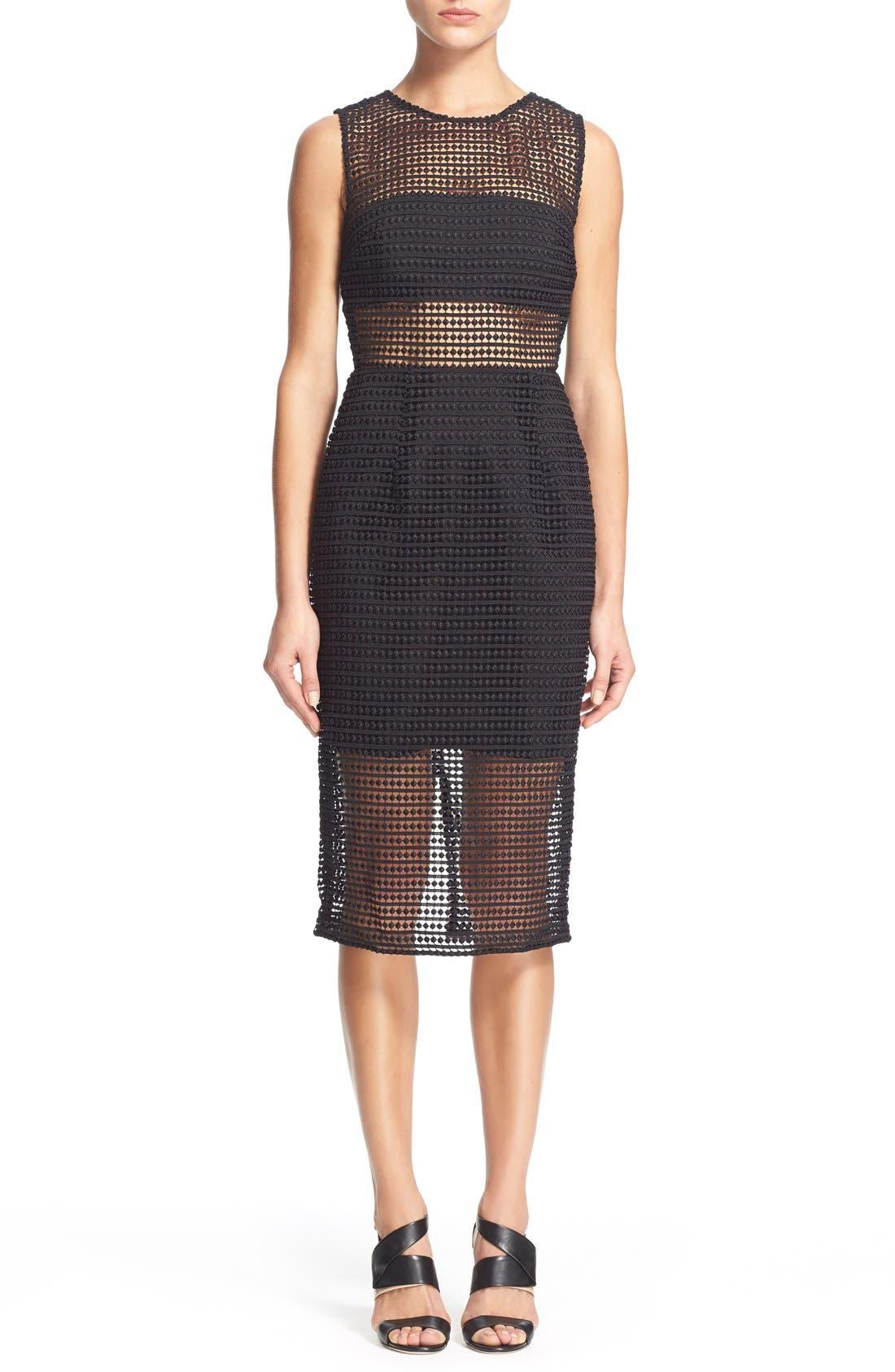 Alternate Image 1 Selected - NICHOLAS Dot Lace Sheath Dress
