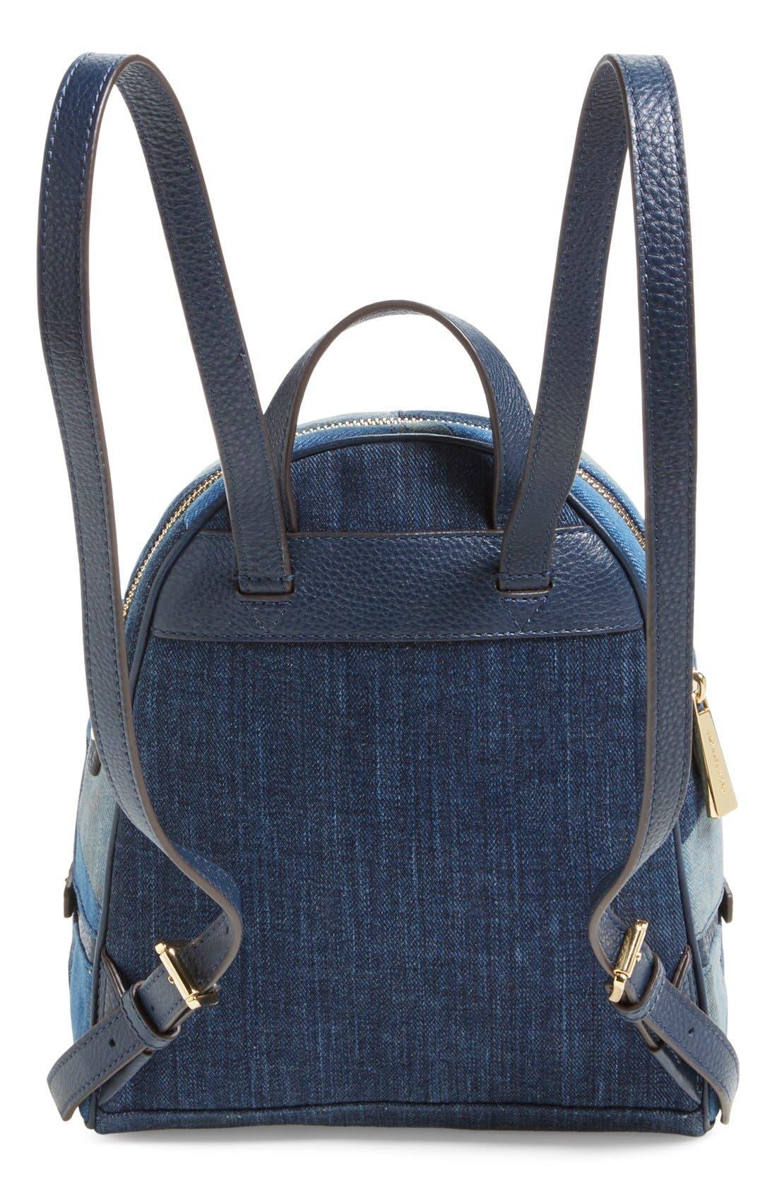 Alternate Image 3  - Michael Kors 'Small Rhea Zip' Denim Backpack